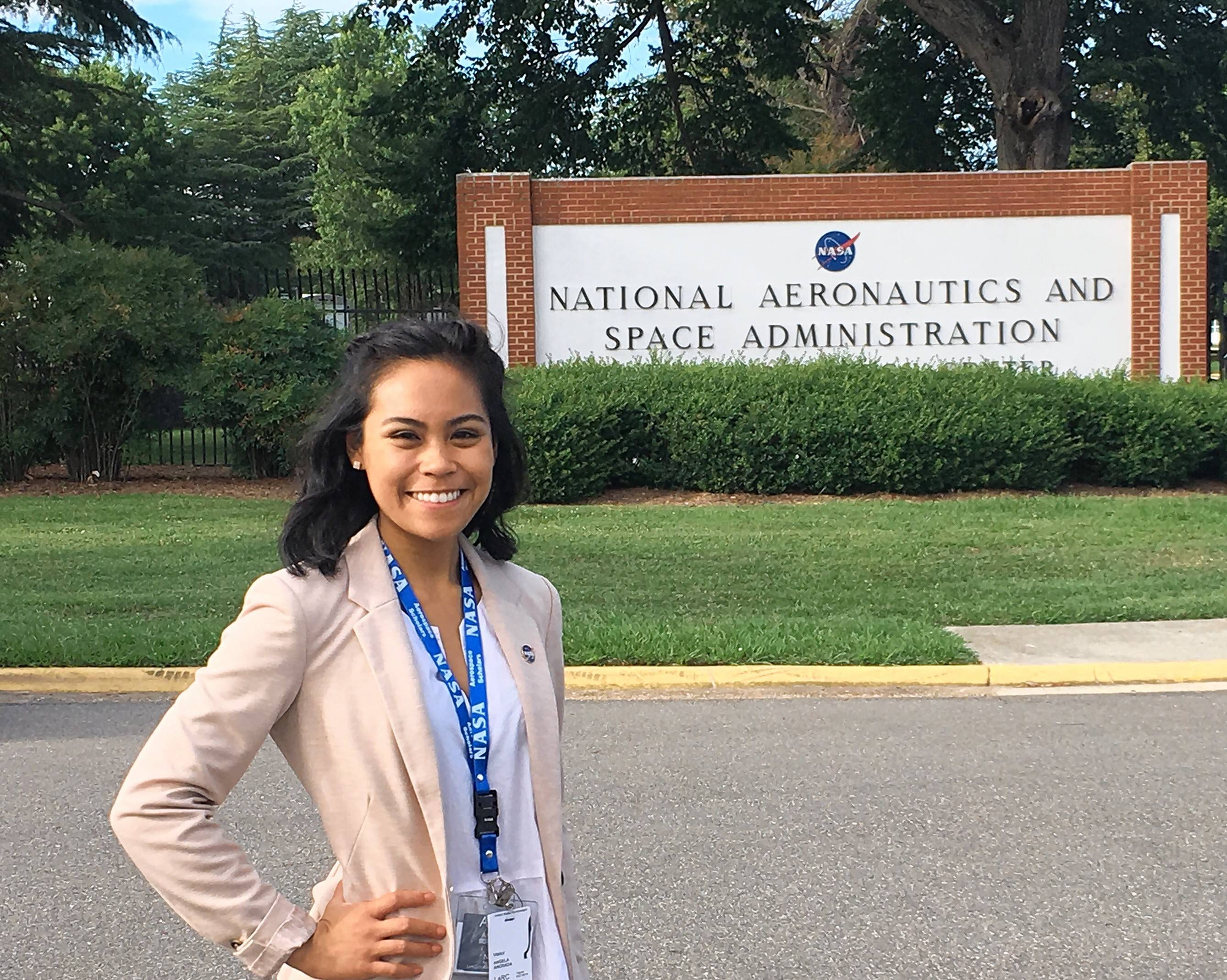 Elgin Community College student Angela Andrada, 19, of Elgin, earned a certificate signed by Ellen Ochoa -- the first Hispanic woman to go into space on a nine-day mission aboard the shuttle Discovery in 1993 -- for her participation in the NASA Community College Aerospace Scholars program.