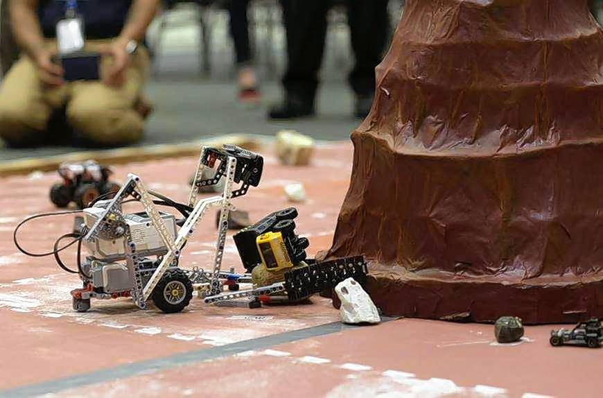 Angela Andrada, 19, of Elgin, was among 304 community college students nationwide participating in the NASA Community College Aerospace Scholars program. Students got to build rovers for a mock Mars mission as part of the program.