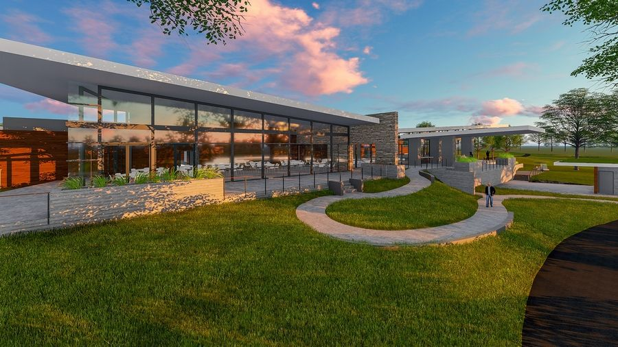 DuPage forest preserve commissioners are talking about building a clubhouse at The Preserve at Oak Meadows in Addison. The roughly 18,000-square-foot building would have a pro shop, a restaurant and bar, and outdoor terraces.
