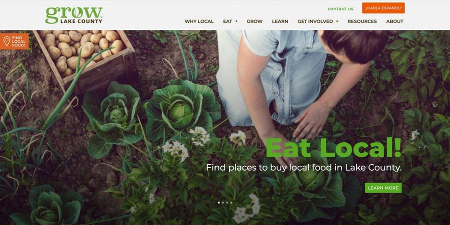 Liberty Prairie Foundation has launched www.growlakecounty.org, a new website to help people find locally grown food, highlight groups working on projects and list ways for people to get involved.