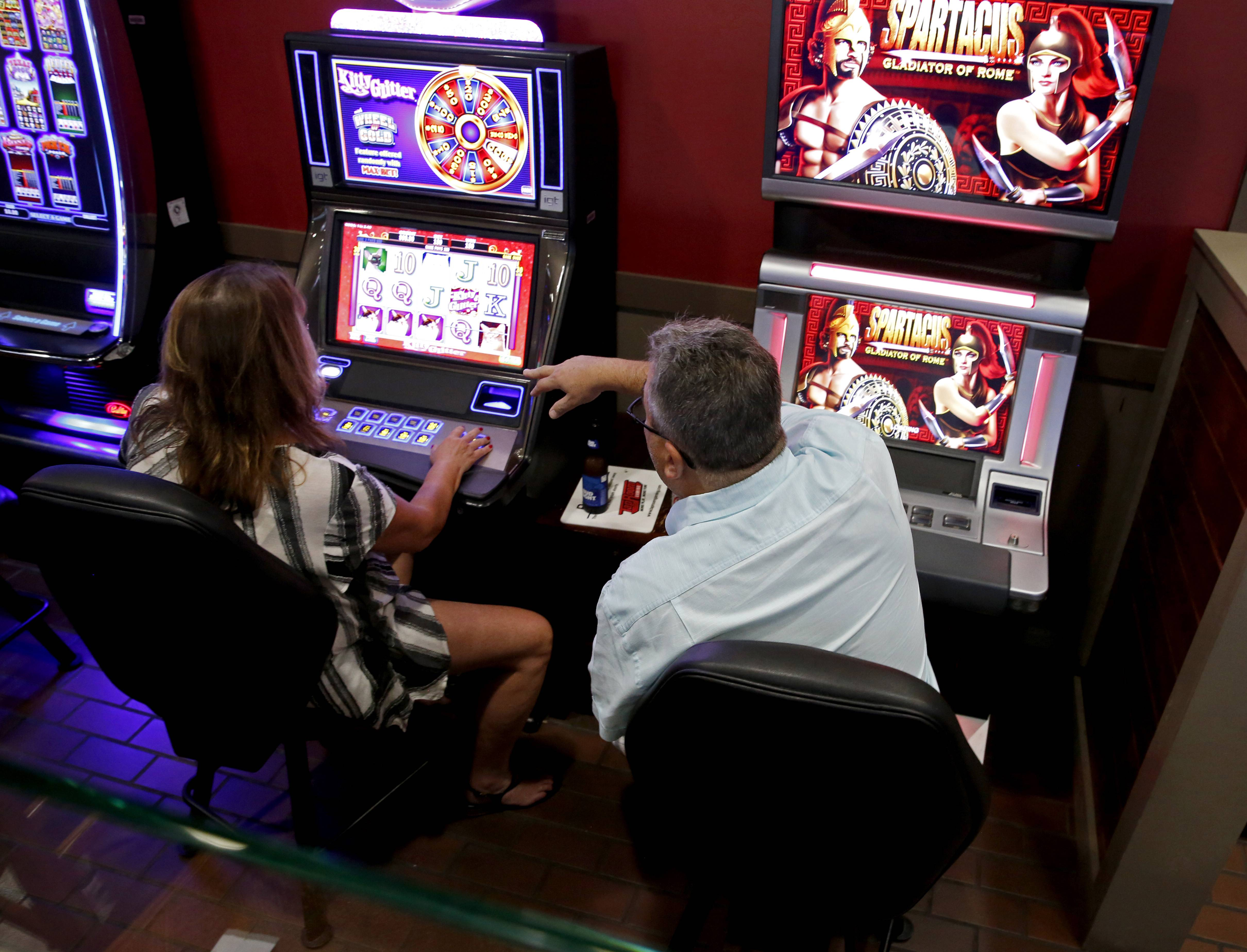 Video gambling machines, like these in Oakbrook Terrace, generate revenue for suburbs that allow them at bars, restaurants and other businesses. Wauconda officials are concerned about the proliferation of the machines in town.