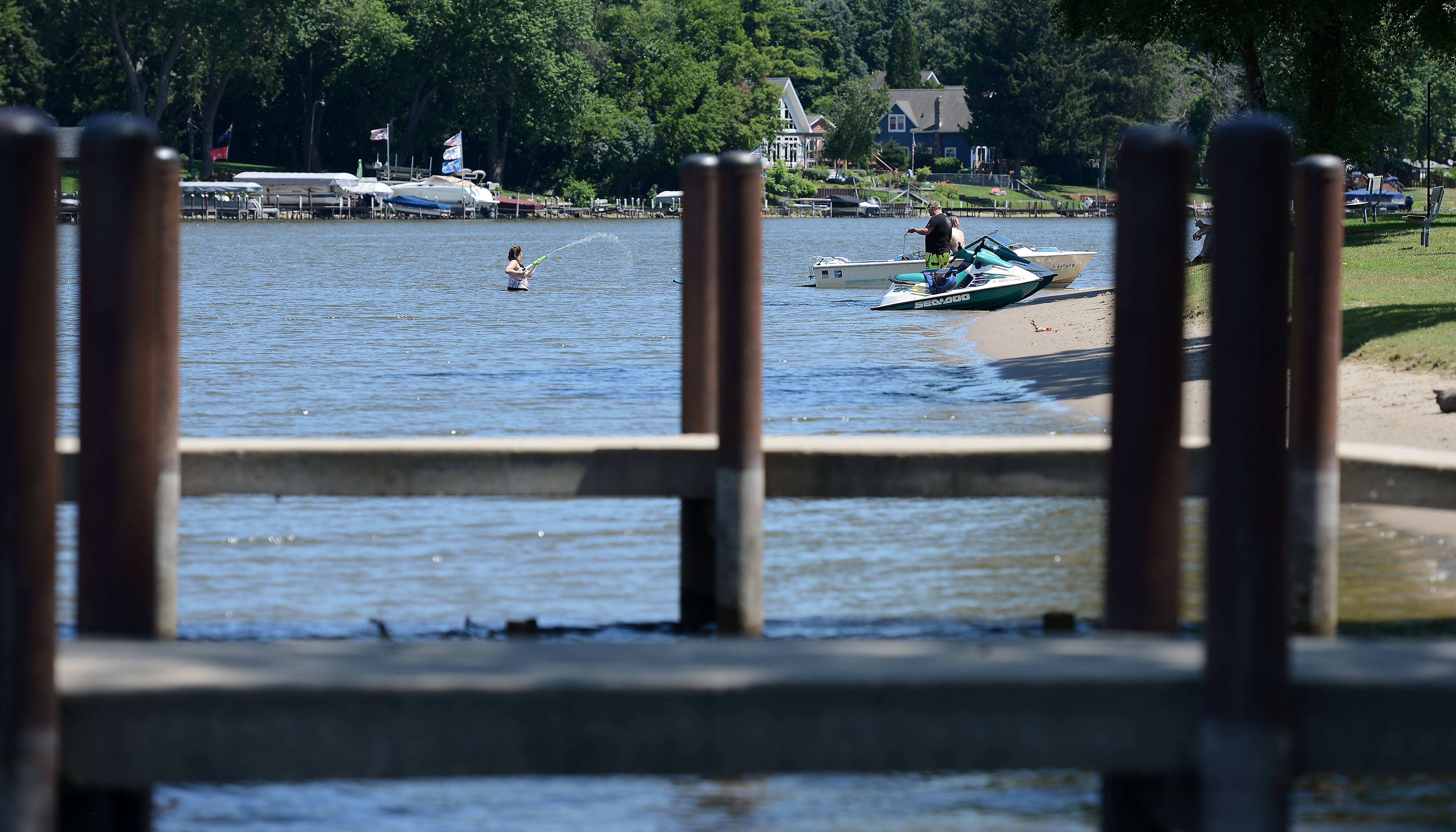 A 6-year-old boy from Cary was injured Sunday after being hit by a motorboat in the Fox River near Picnic Grove Park beach in Fox River Grove.