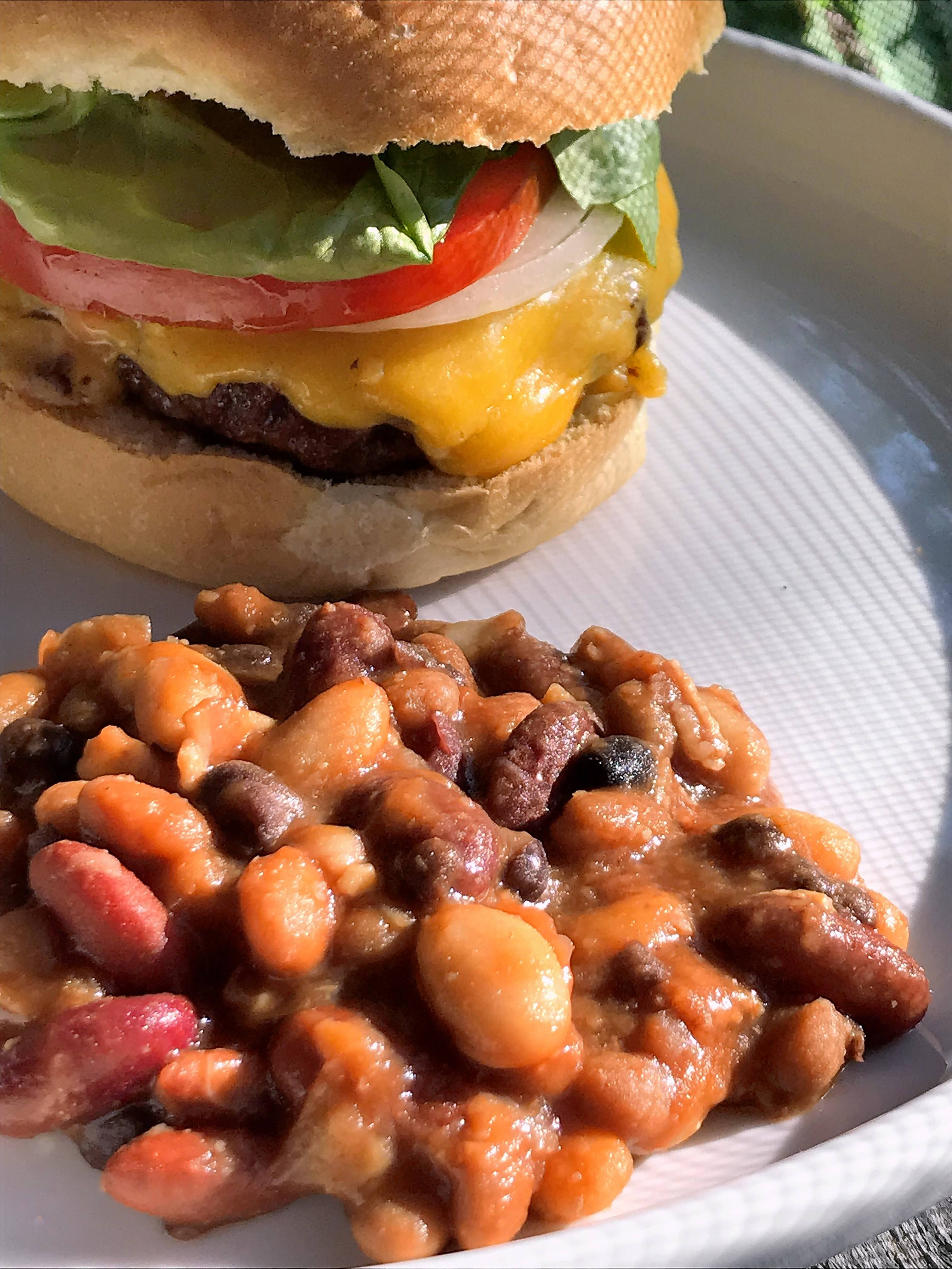 Sarah's BBQ Beans make the quintessential side to all-American comfort foods.