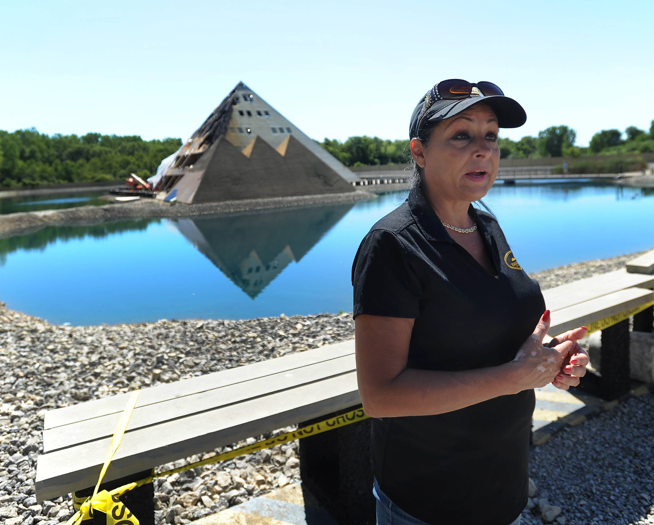 Yolanda Fierro, a spokeswoman and event coordinator for the Gold Pyramid House in Wadsworth, said the owners are assessing the damage and whether any of the Egyptian-related artifacts displayed in the house's first- and second-floor museum can be salvaged.