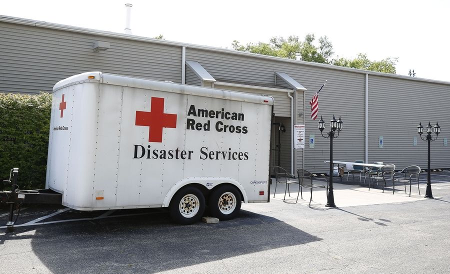 Lakewood Chapel in Arlington Heights and the Red Cross are working together to offer shelter, food, clothing and showers to displaced residents.