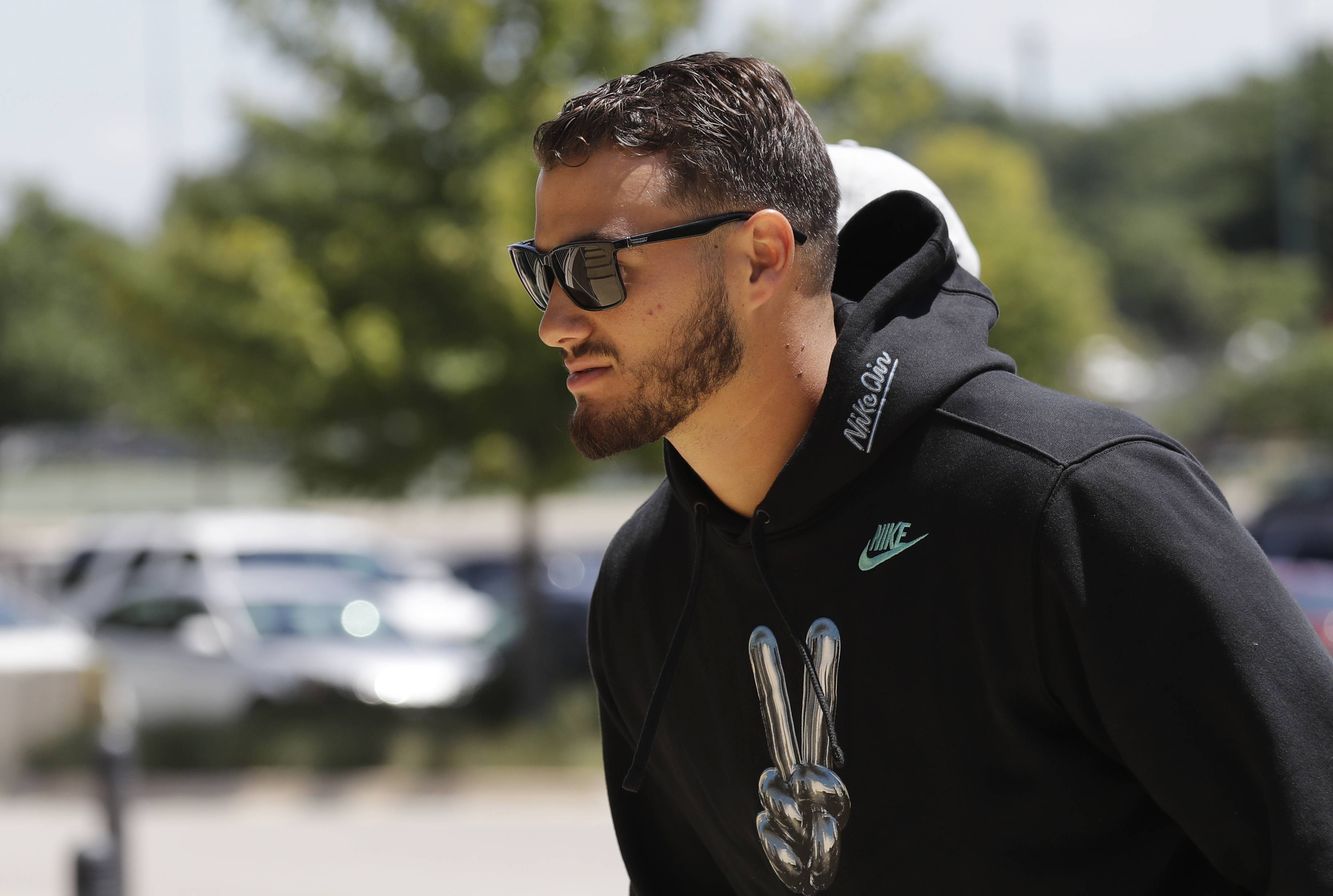 Assocaited Press Bears QB Mitch Trubisky has blinders on as he heads into his second training camp, and his first as the starter. Trubisky's tunnel vision is a good sign because he's blocking out all outside distractions so as to have a laser-like focus on his job as the Bears' franchise quarterback
