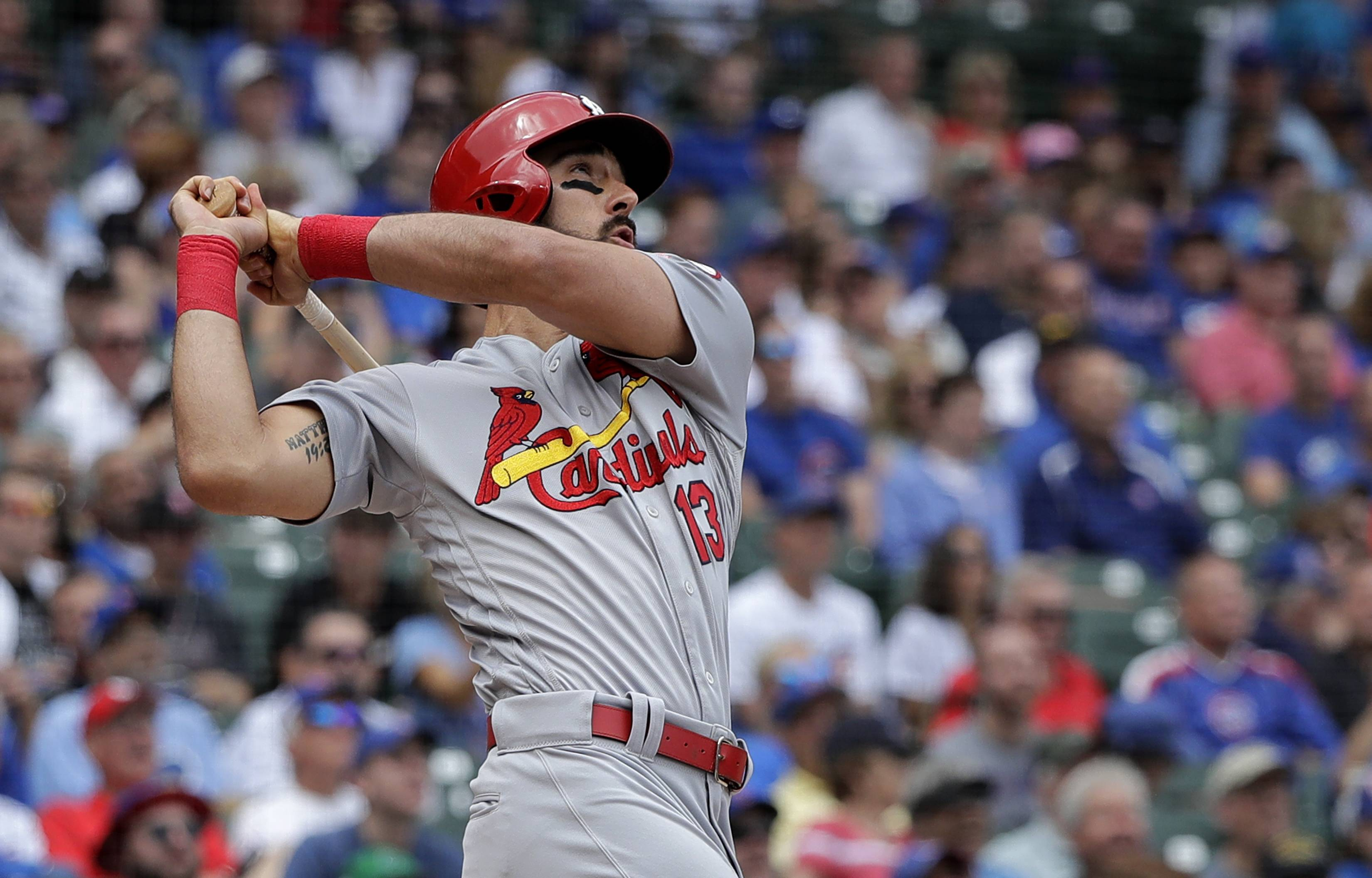 The St. Louis Cardinals got 3 home runs and 2 doubles from Matt Carpenter Friday in a 18-5 rout of the Chicago Cubs at Wrigley Field.