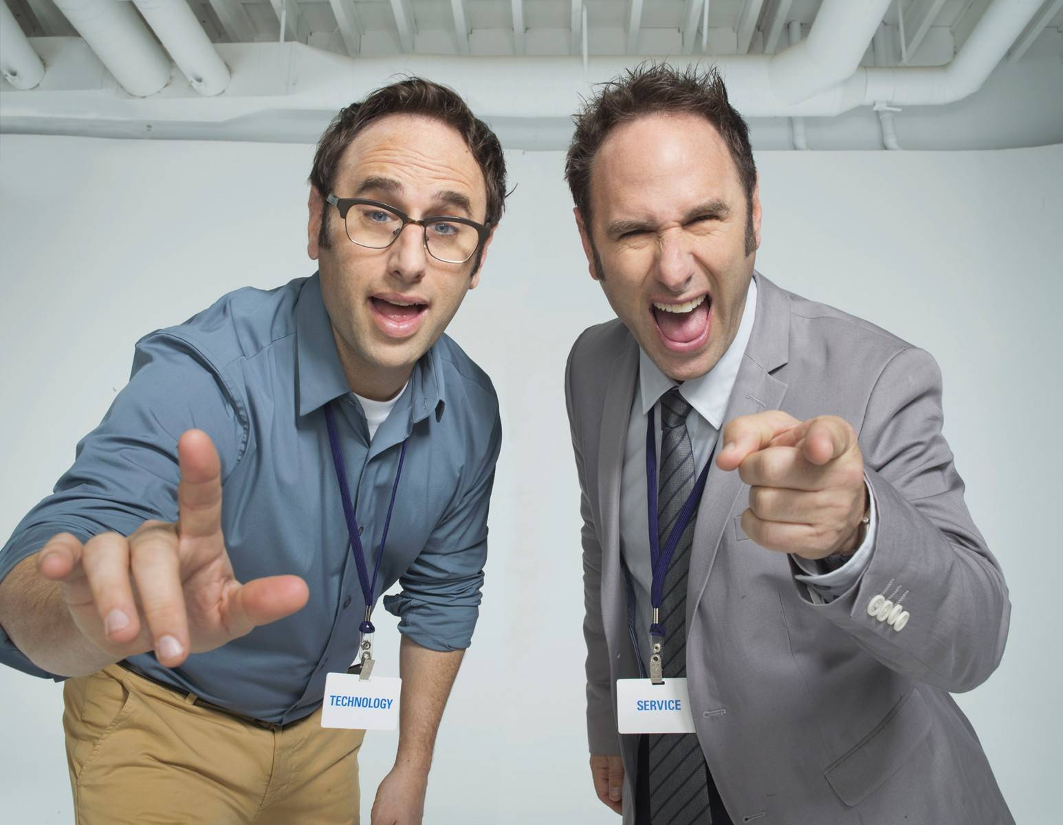 The Sklar Brothers perform at the Improv Comedy Showcase in Schaumburg.