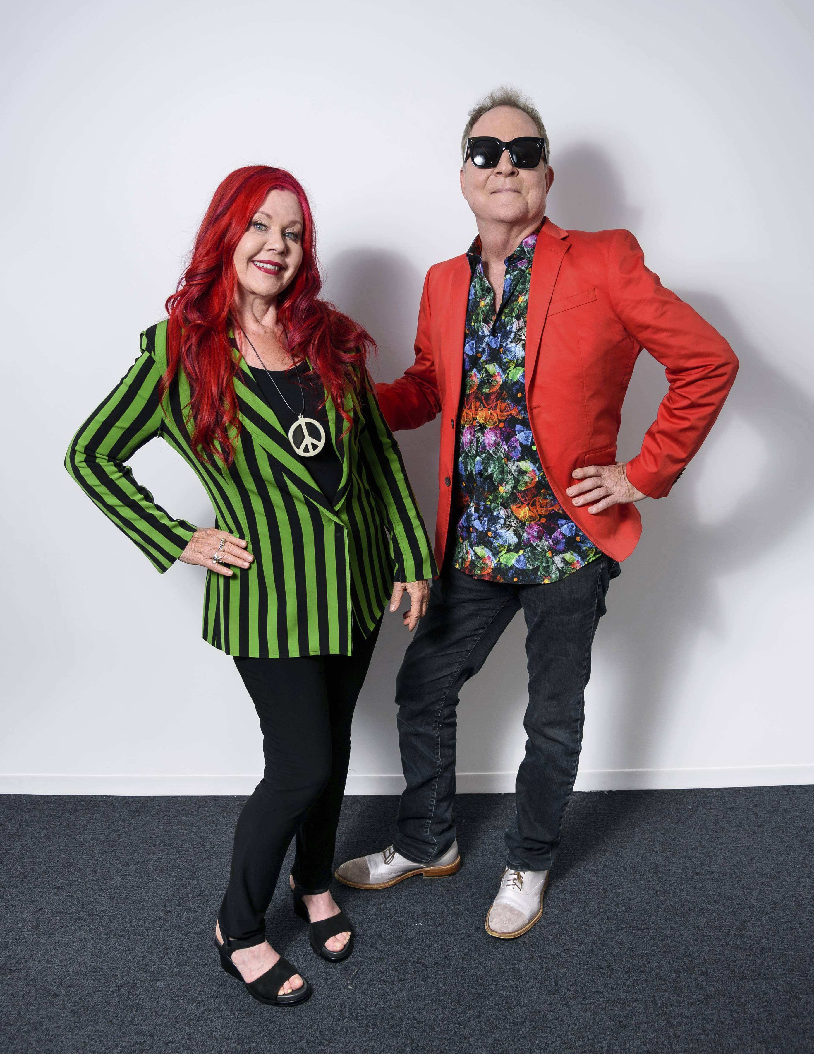 Kate Pierson, left, and Fred Schneider hit the road with The B-52s to promote the band's 40th anniversary.