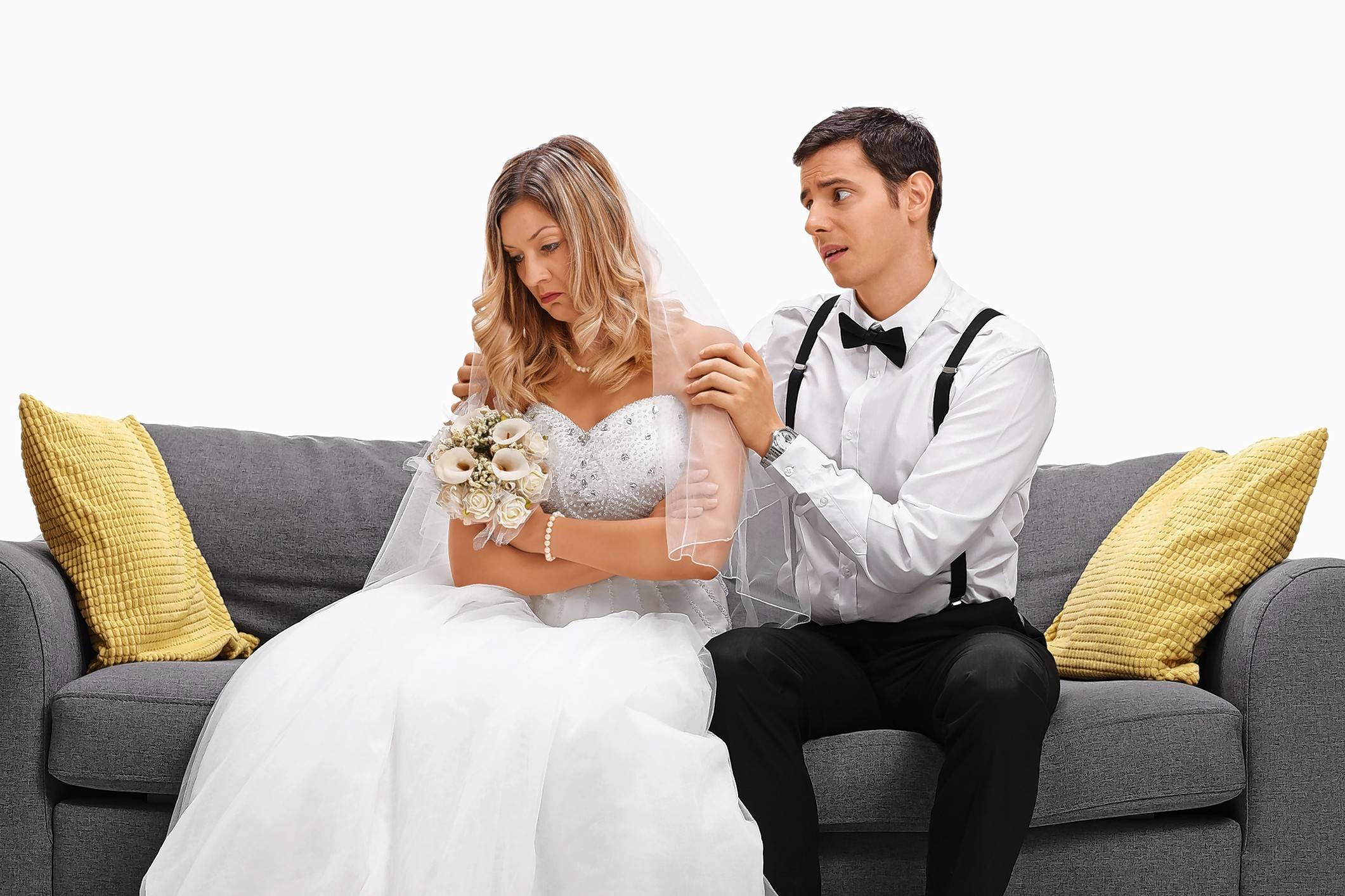 Post-wedding blues can hit both brides and grooms.