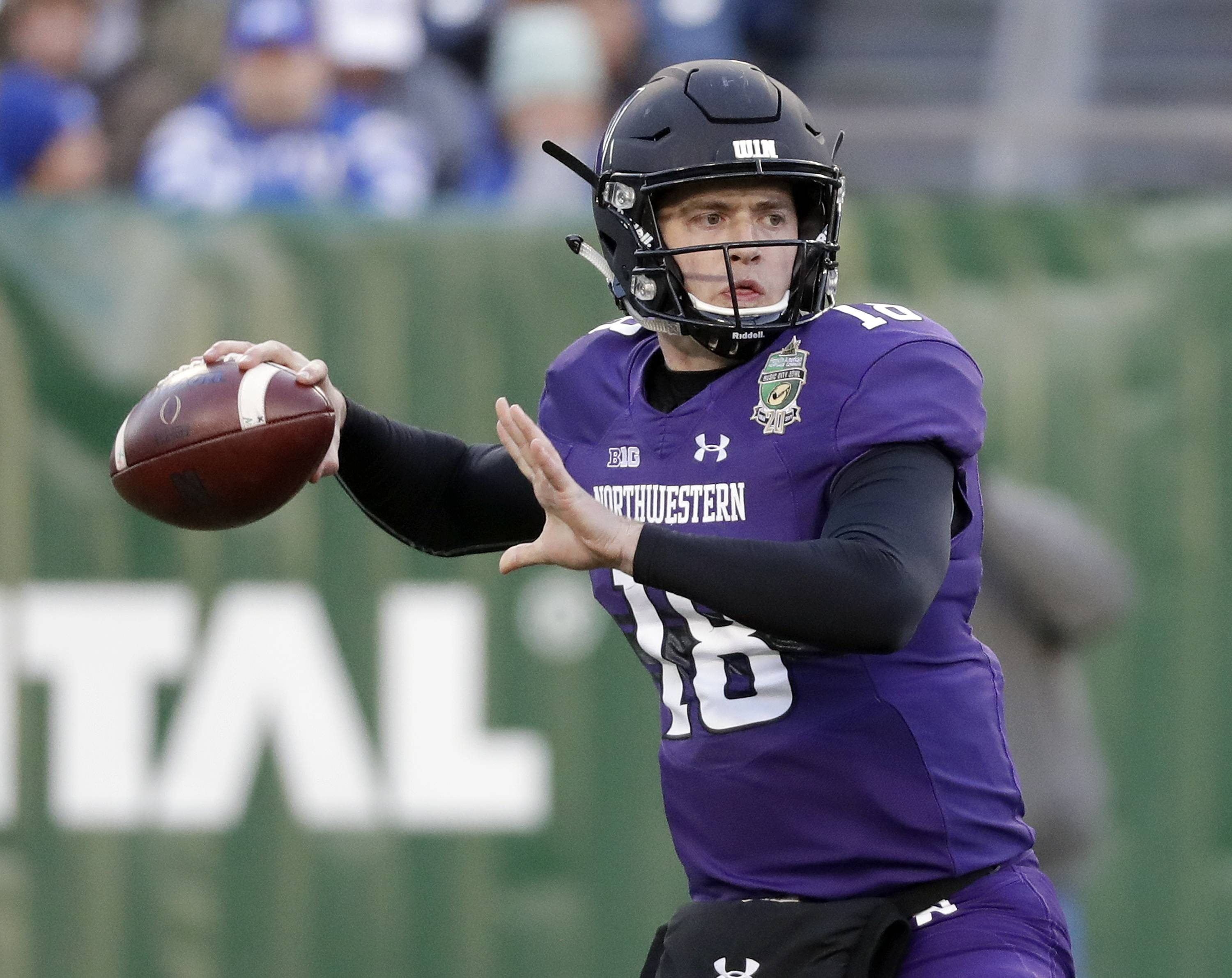 With quarterback Clayton Thorson coming back from knee surgery, can the Northwestern Wildcats take a step forward in the Big Ten West Division? (AP Photo/Mark Humphrey)