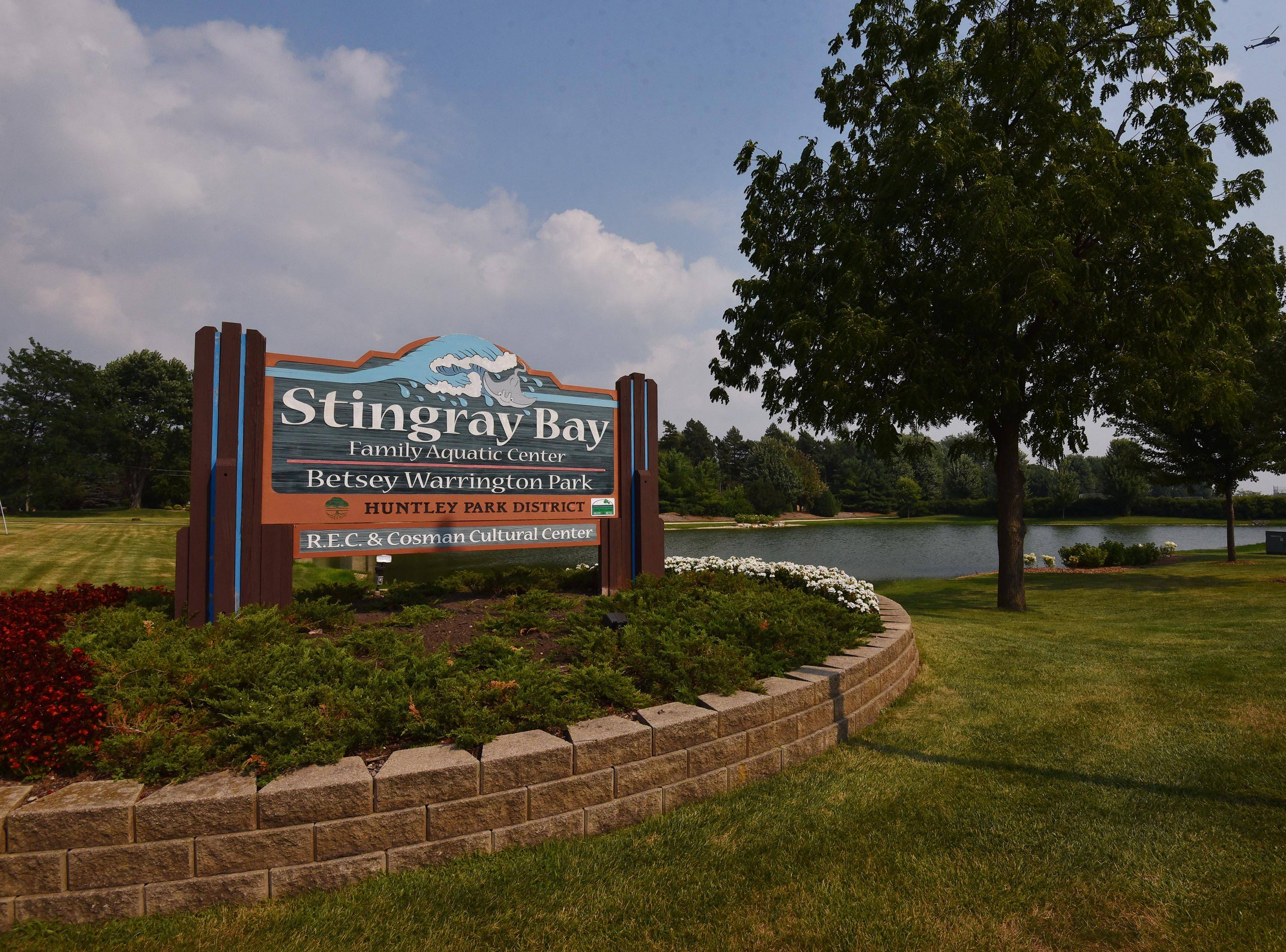 Huntley Park District employees saved two swimmers in distress Monday at the Stingray Bay Aquatic Center in Huntley.