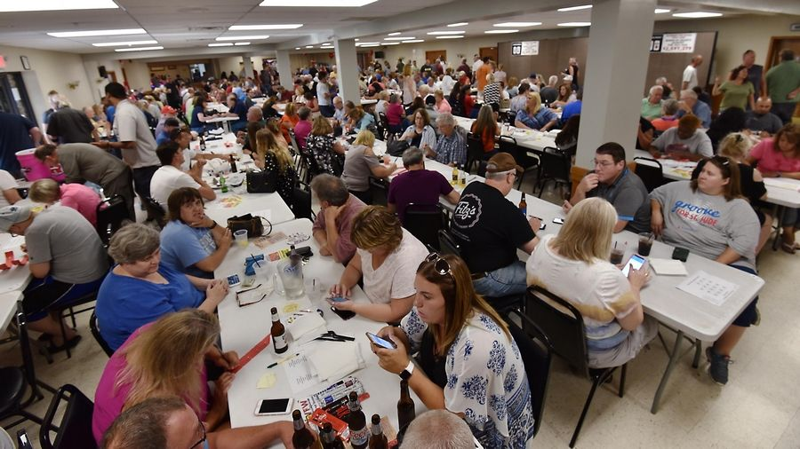The room was filled to capacity for several hours before the weekly drawing for the McHenry VFW Post 4600 Queen of Hearts game Tuesday at the post on Route 120 in McHenry.