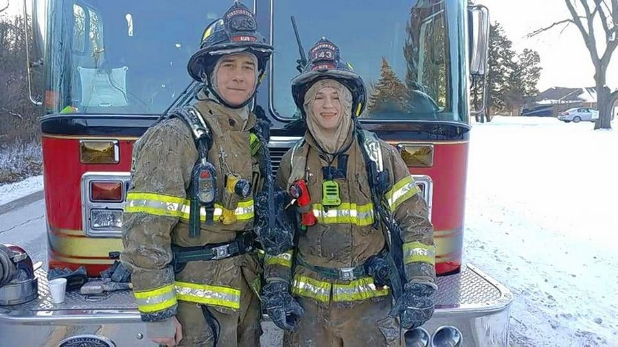 Firefighter/paramedic John-Paul Kilanski, 38, left, died unexpectedly of natural causes Sunday. Services are scheduled for this weekend.