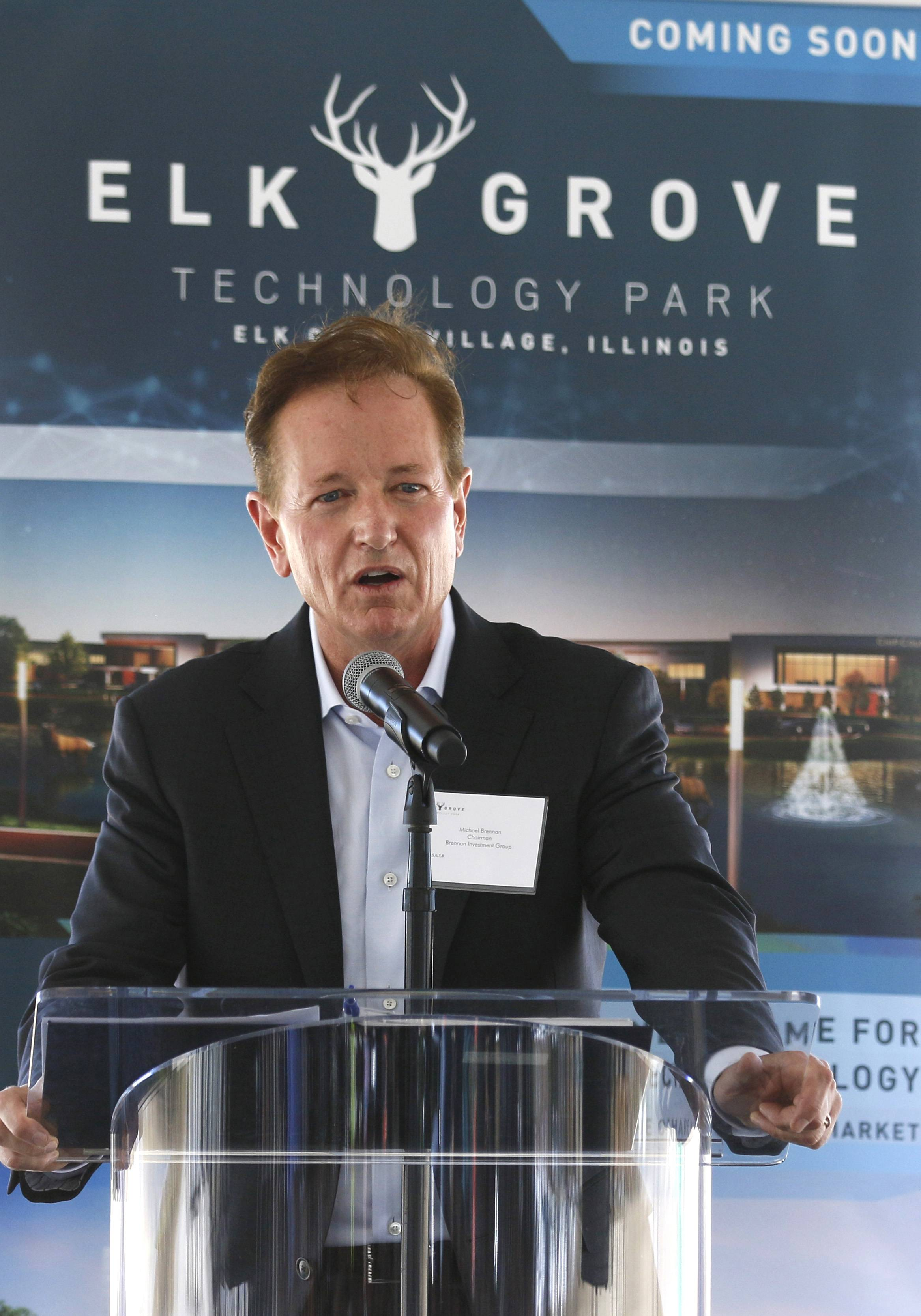 Michael Brennan, chairman of the Brennan Investment Group, talks about the new $1 billion Elk Grove Technology Park. Groundbreaking for the huge project took place Wednesday.