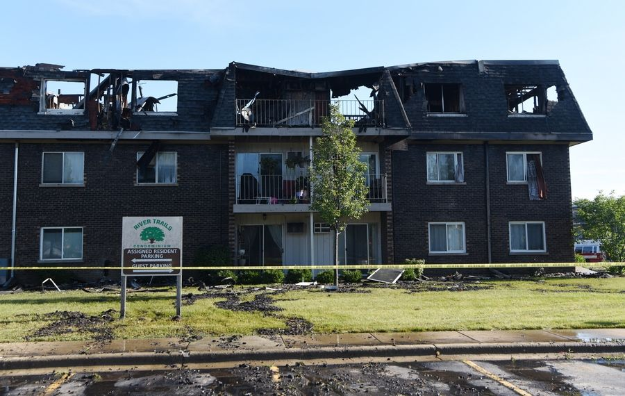 Last week's fire at the River Trails Condominiums in Prospect Heights caused an estimated $10 million in damage, according to investigators.