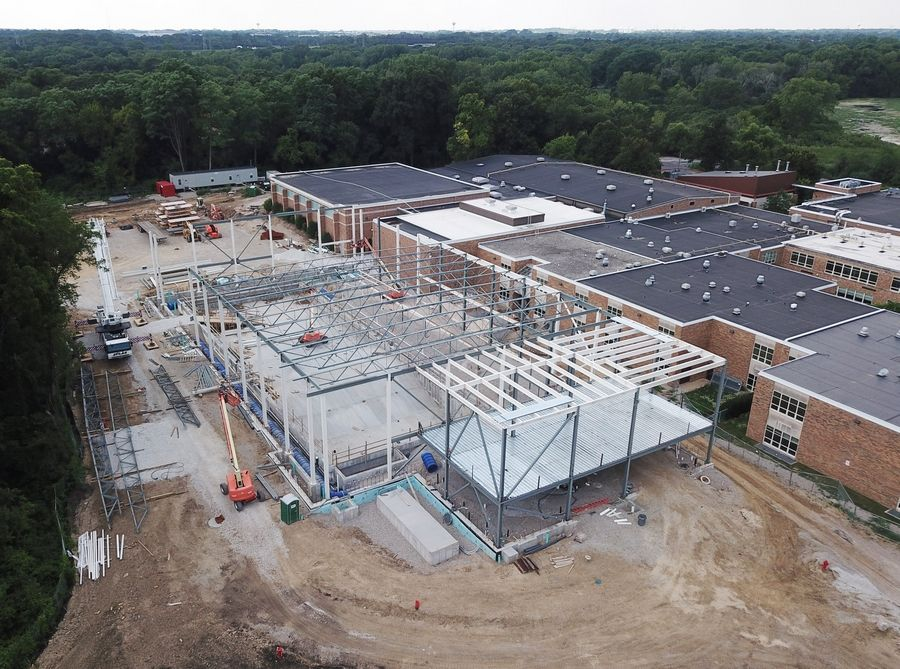An indoor swimming pool that's under construction at Libertyville High School should be completed in spring 2019. The proposed budget for the 2019 fiscal year includes $16 million for the project, which has a total price tag of $21.5 million.