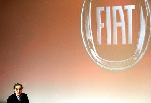 FILE - In this Friday, June 1, 2018 file photo, Fiat Chrysler CEO Sergio Marchionne speaks during a press conference at the FCA headquarter, in Balocco, Italy. On Wednesday, July 25, 2018, holding company of Fiat founding family said Sergio Marchionne, who oversaw turnarounds of Fiat and Chrysler, has died.