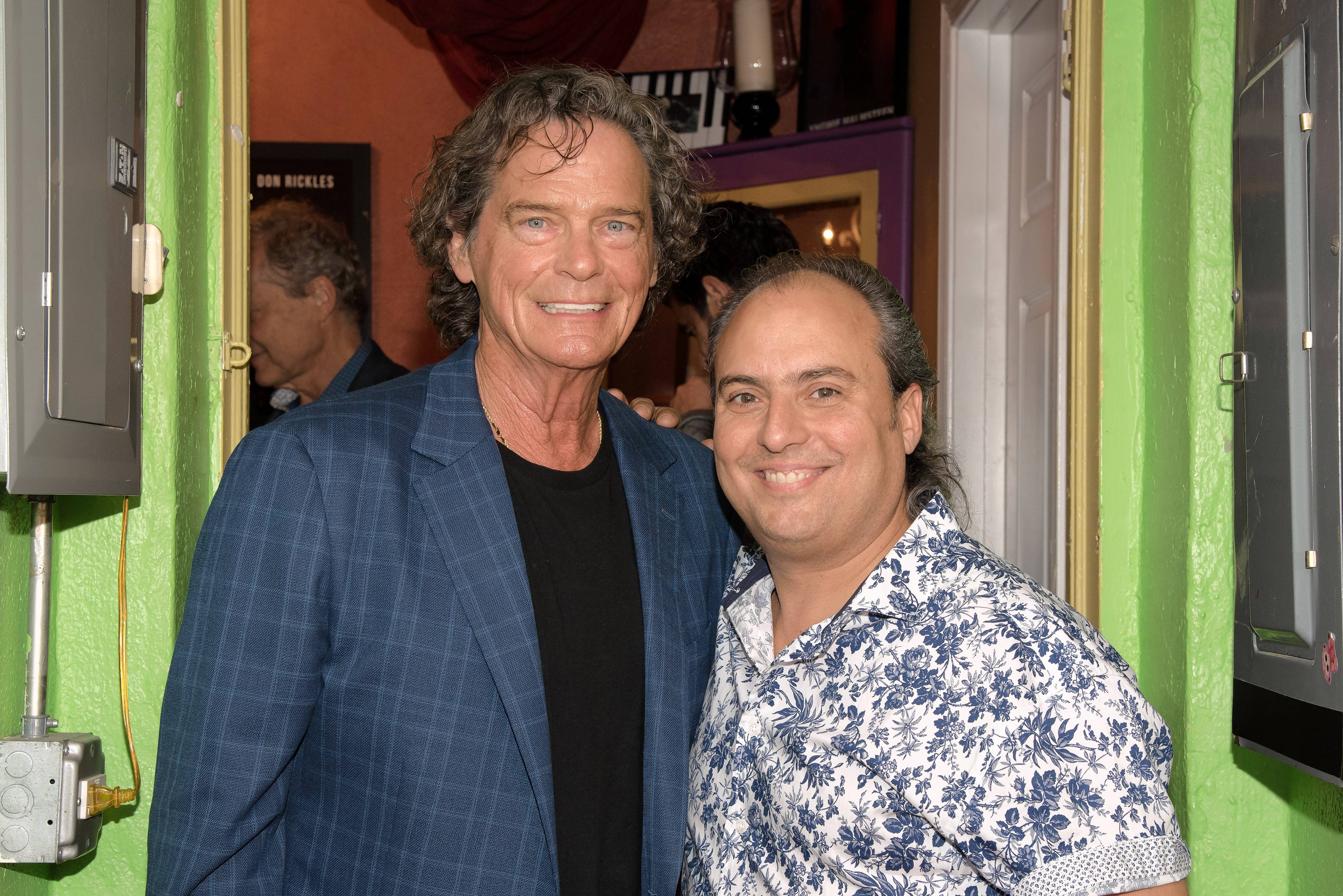 Singer B.J. Thomas, left, joined Arcada Theatre owner Ron Onesti last week and talked about his early influences in R&B music.