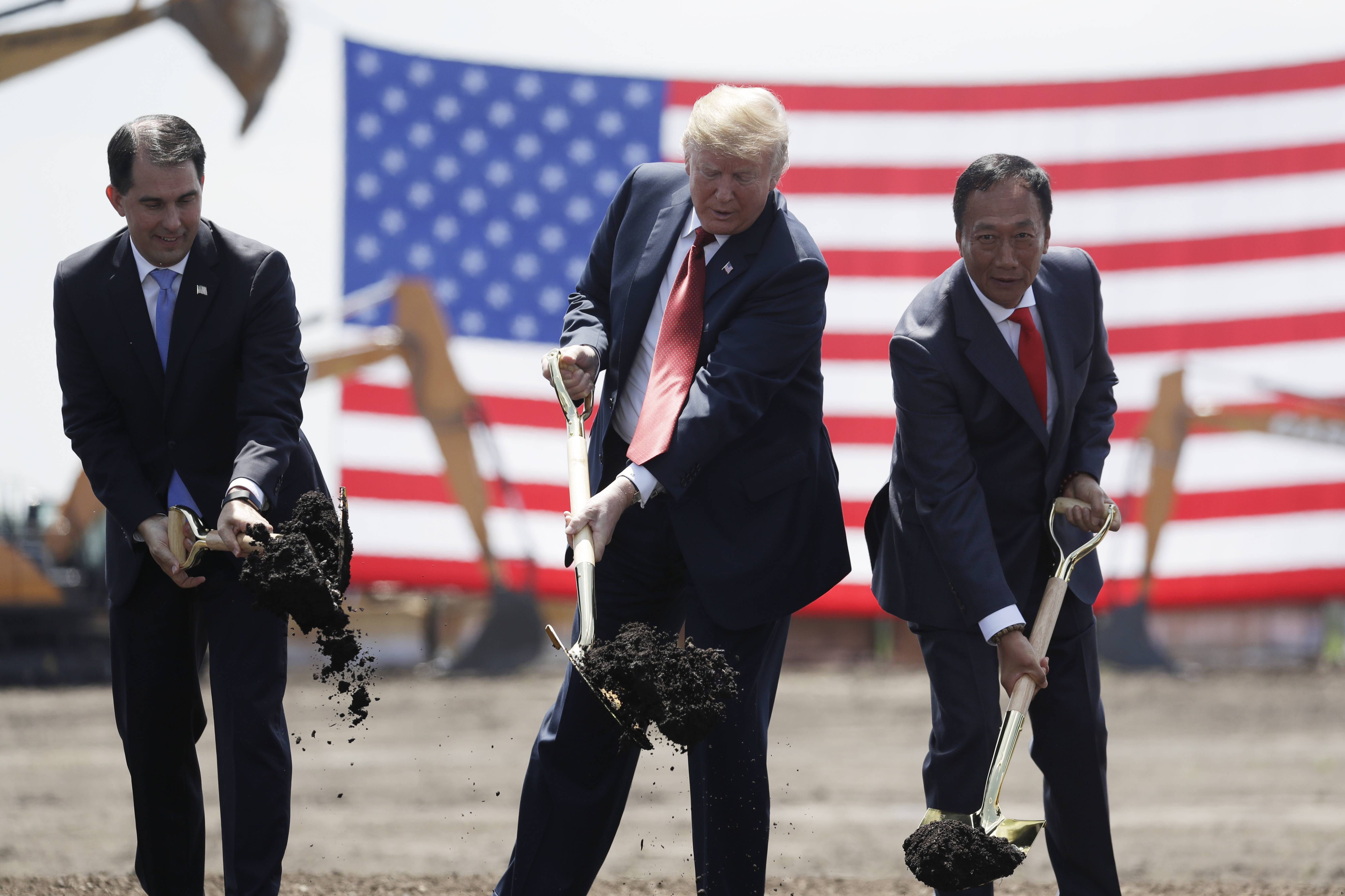 President Donald Trump participated in a groundbreaking event and tour of the Foxconn facility in Mount Pleasant, Wisconsin, last month.