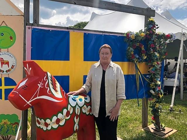 Susan Anderson-Khleif enjoys going to Swedish Days in Geneva with friends.