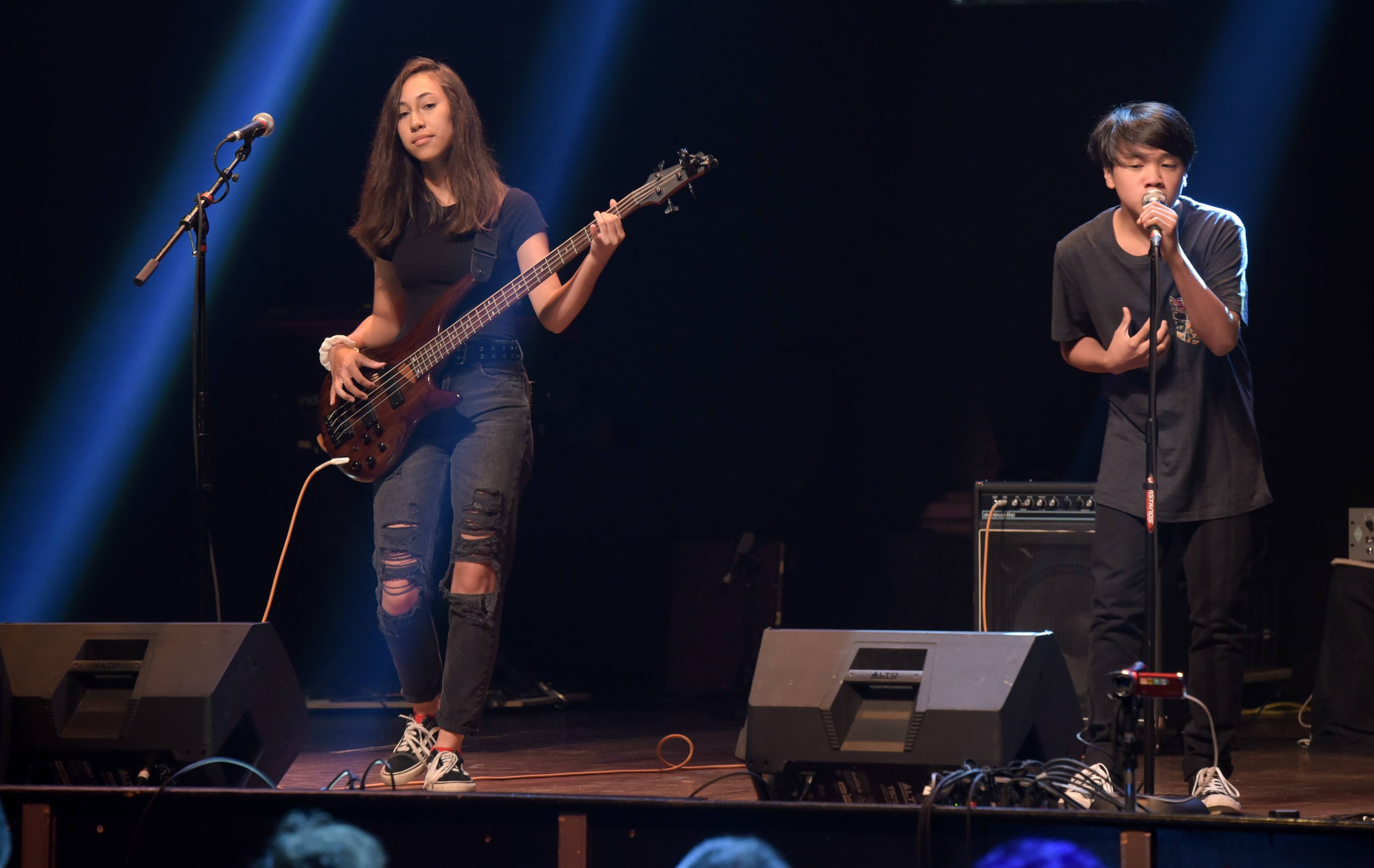 "LiveWire from Geneva performs an original song ""Someday"" during the semifinals Sunday of the 2018 Suburban Chicago's Got Talent at Arcada Theatre in St. Charles."