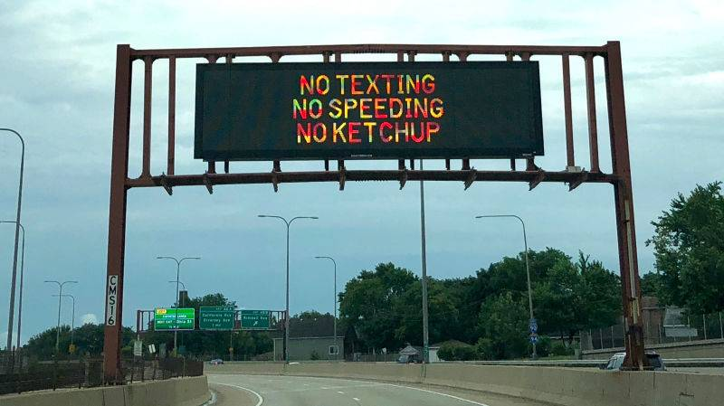 IDOT reinvents traffic signs -- no ketchup allowed