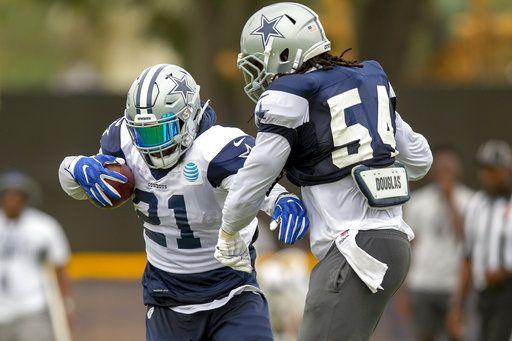 f1945eb7b Dallas Cowboys running back Ezekiel Elliott (21) and Dallas Cowboys  linebacker Jaylon Smith (