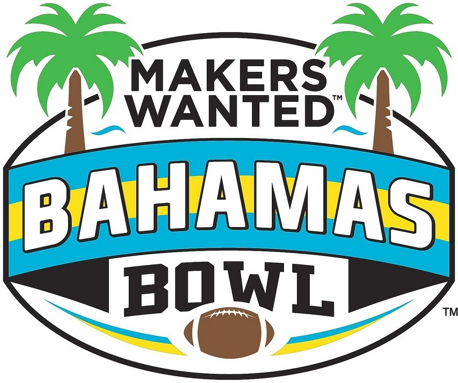 "The new Bahamas Bowl logo features Elk Grove Village's ""Makers Wanted"" tagline."