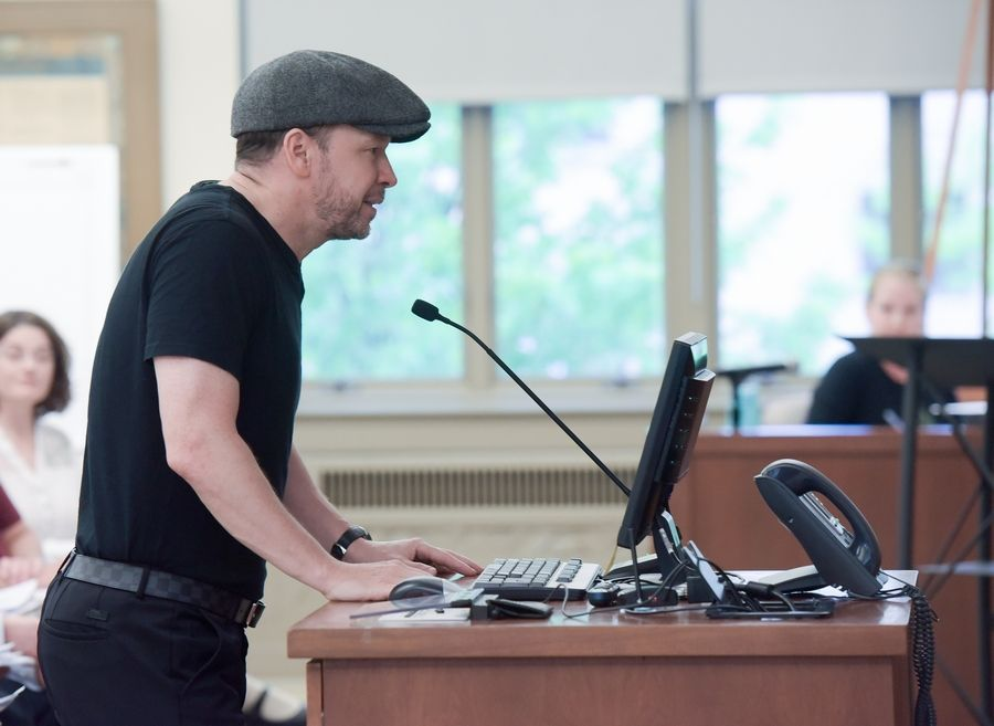 Donnie Wahlberg addresses St. Charles aldermen May 14 about his plans to open a new Wahlburgers restaurant on the city's west side. The city council gave the burger chain the green light June 4.