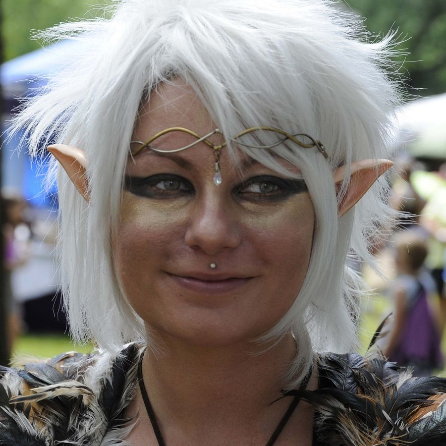 Joanna Mattaliano, 30, of Huntley dressed as a water fairy Sunday to attend the World of Faeries Festival, which was part Renaissance fair and part Comic-Con all rolled into one in South Elgin.