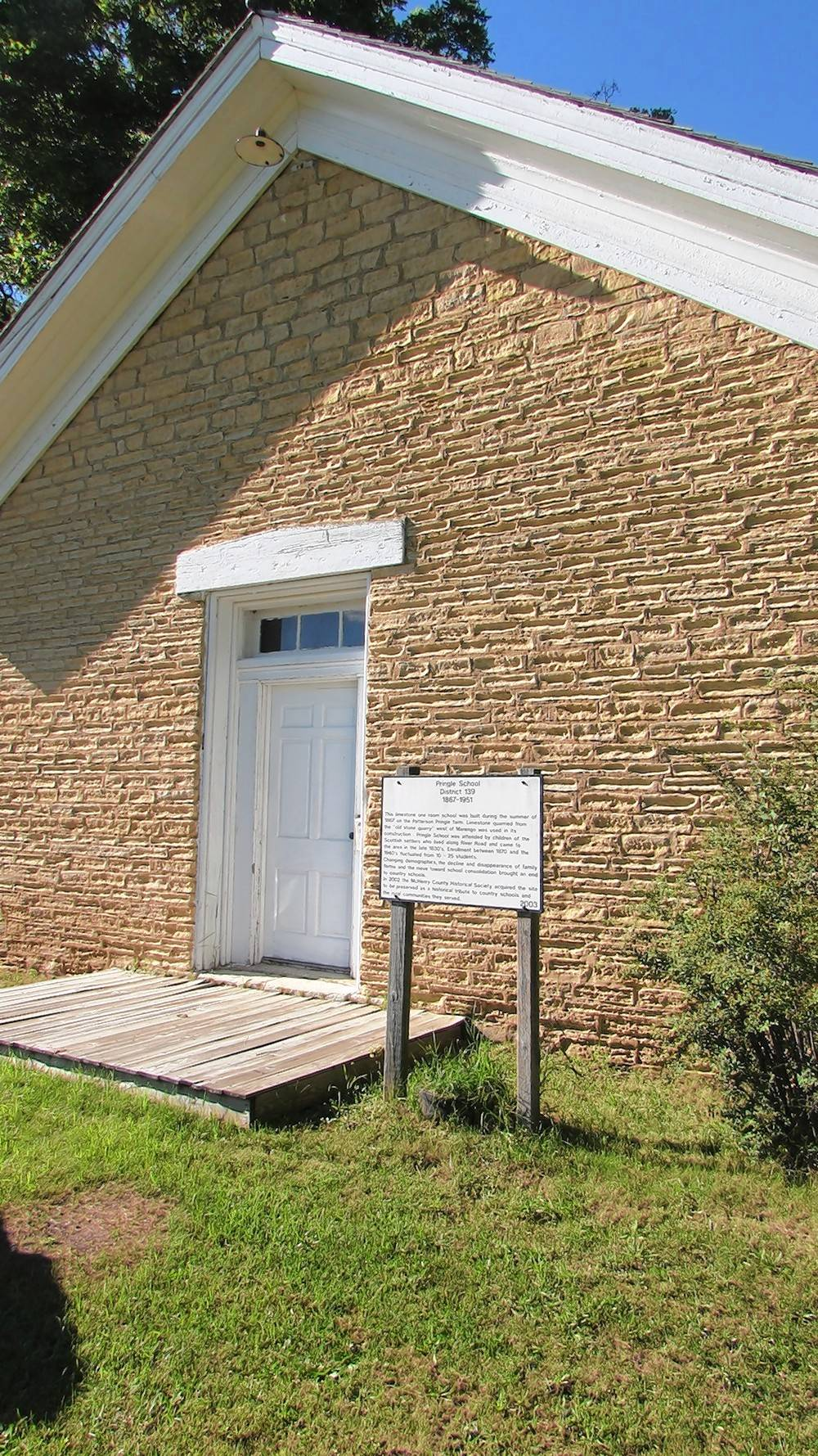 "Learn about the 1867 Pringle School in ""Little Schoolhouse on the Prairie"" on Sunday, Aug. 12."
