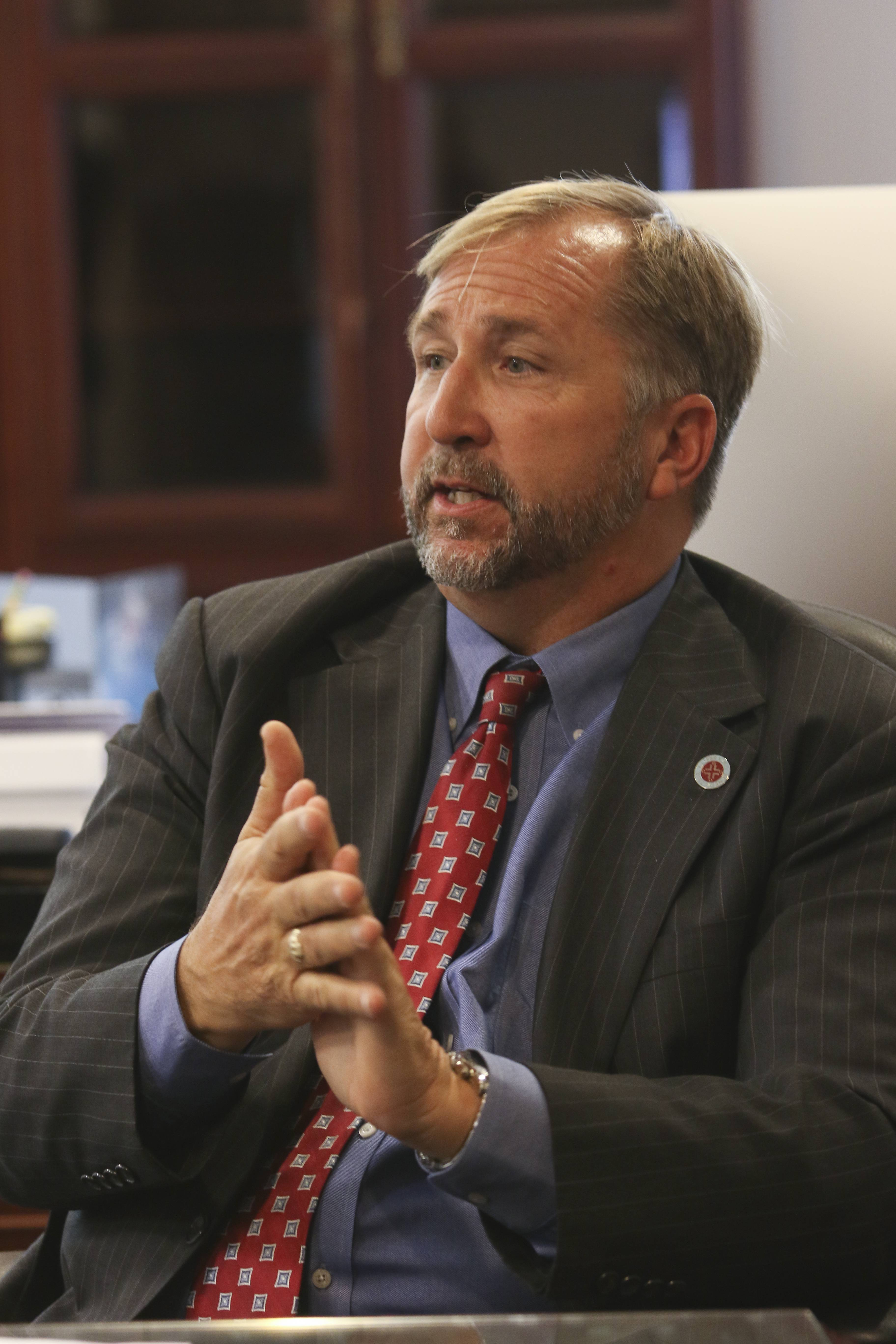 Benedictine University President Michael Brophy has resigned and will relinquish his duties today.