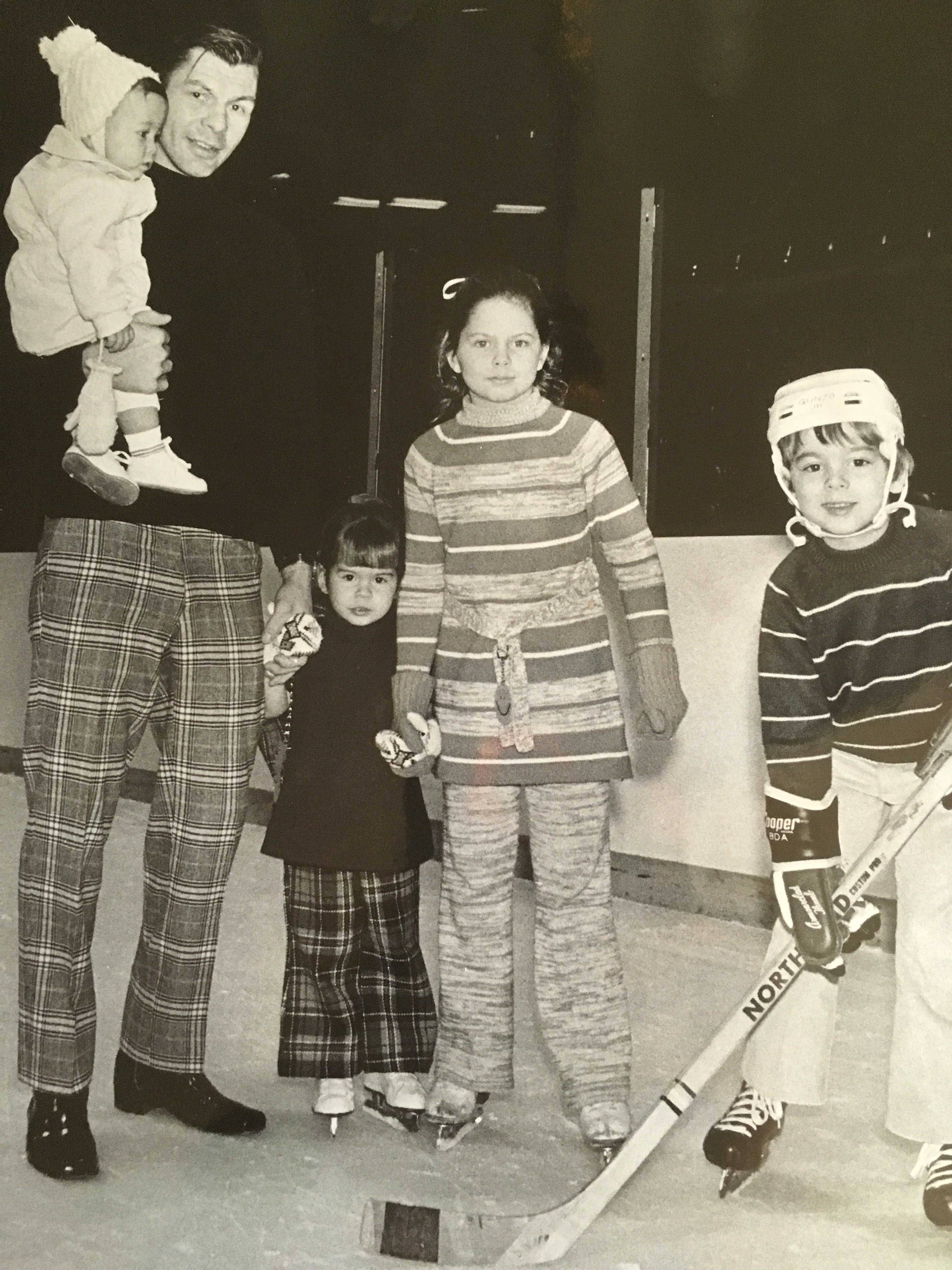 The Mikita children have many memories of enjoying some moments on the ice with their Dad.