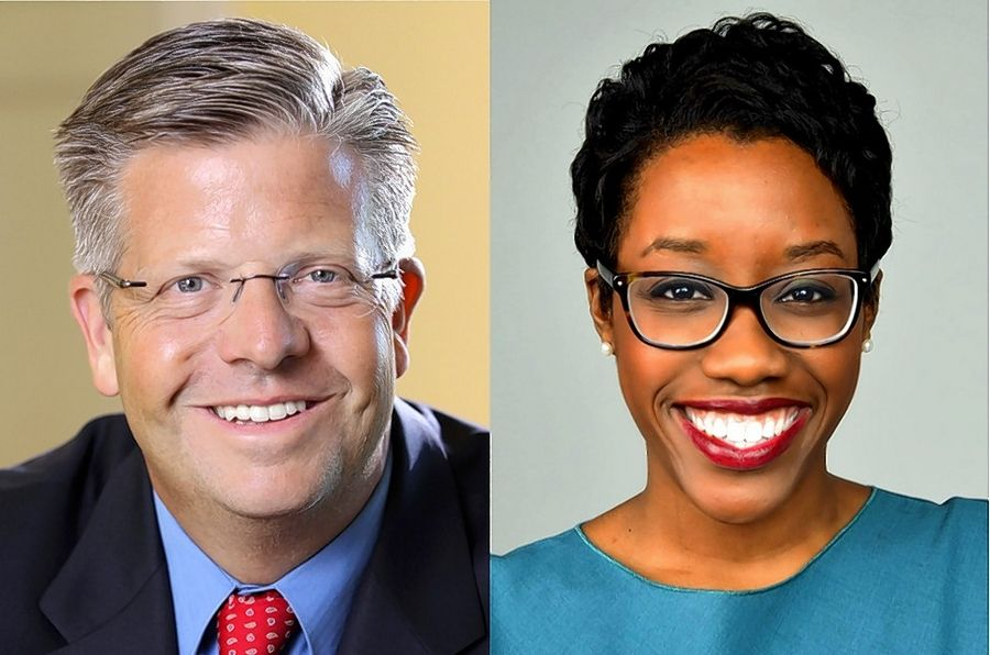 Randy Hultgren is the Republican candidate and Lauren Underwood is the Democratic candidate for the 14th congressional district.