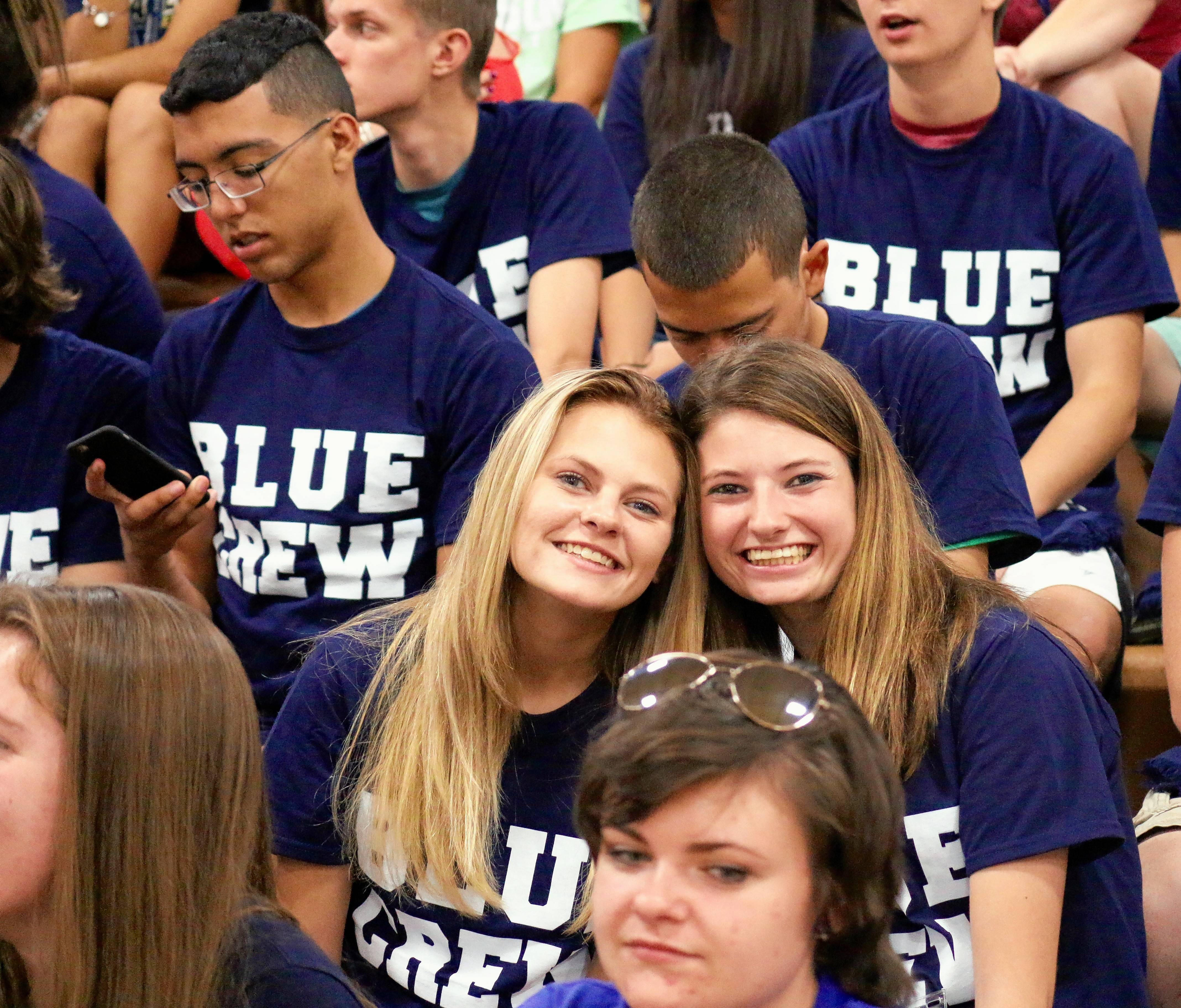 On Saturday, Aug. 18, all new students at Judson University will get a free Blue Crew T-shirt and  cheer on the Eagles during a women's volleyball match.