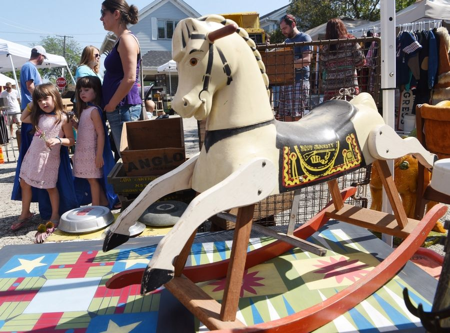 A 1950s-era Davy Crockett rocking horse was among the items up for sale at last year's Long Grove Vintage Days, a two-day street market featuring vintage items and antiques. The festival returns Aug. 18-19.