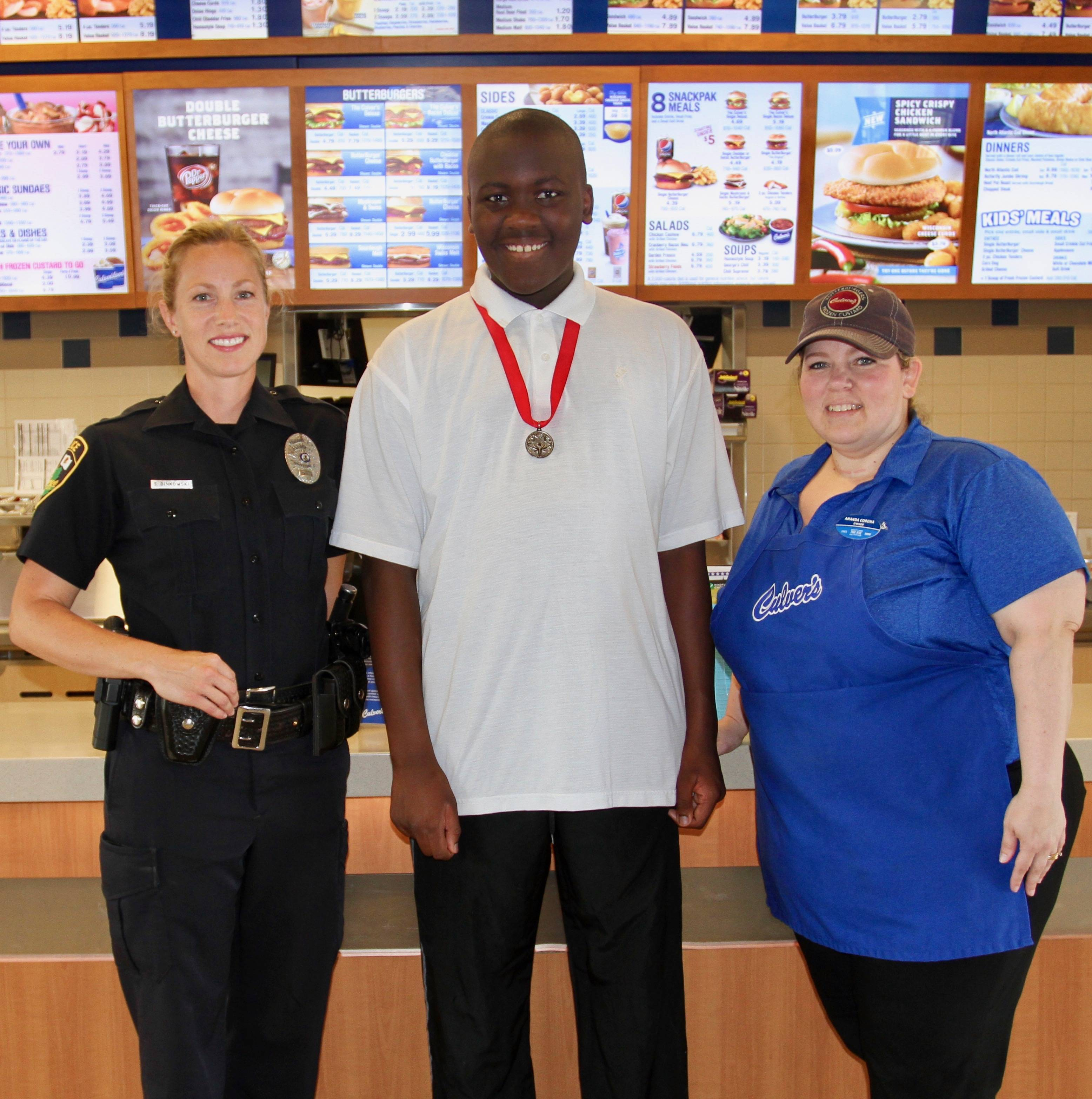 "Special Olympians will join local police officers during the ""ButterBurgers & Badges"" fundraiser hosted by Culver's of Carol Stream on Thursday, Aug. 30. Owner Amy Adams notes her restaurant will donate $1 for every Concrete Mixer sold between 4-8 p.m."