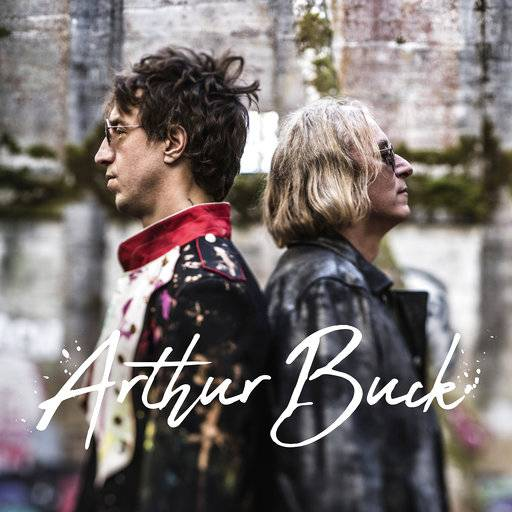 "This cover image released by New West Records shows ""Arthur Buck,"" a collaboration between Joseph Arthur, left, and Peter Buck. (New West Records via AP)"