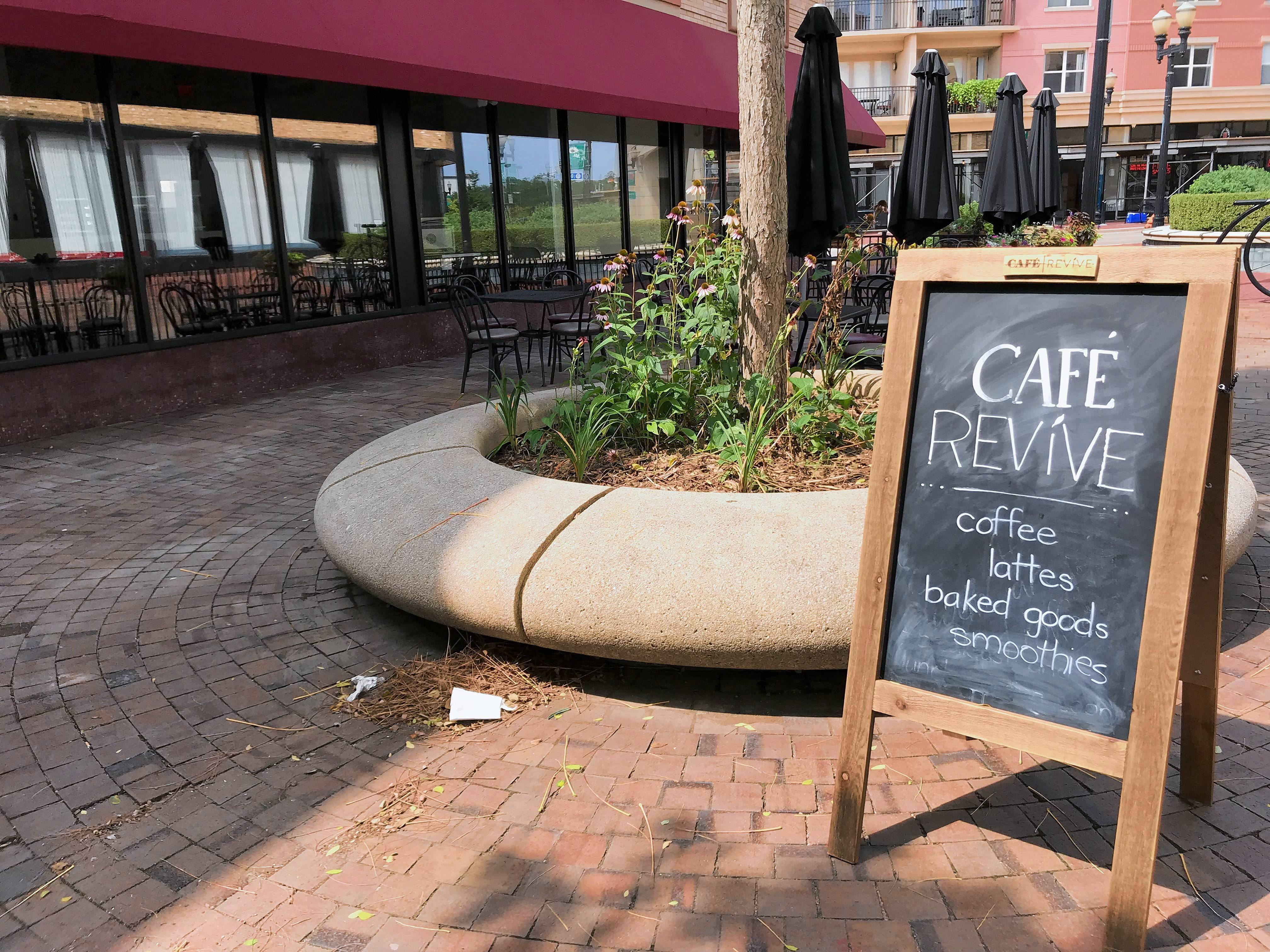 Cafe Revive is open on the second floor of Dream Hall, 51 S. Grove Ave., Elgin.