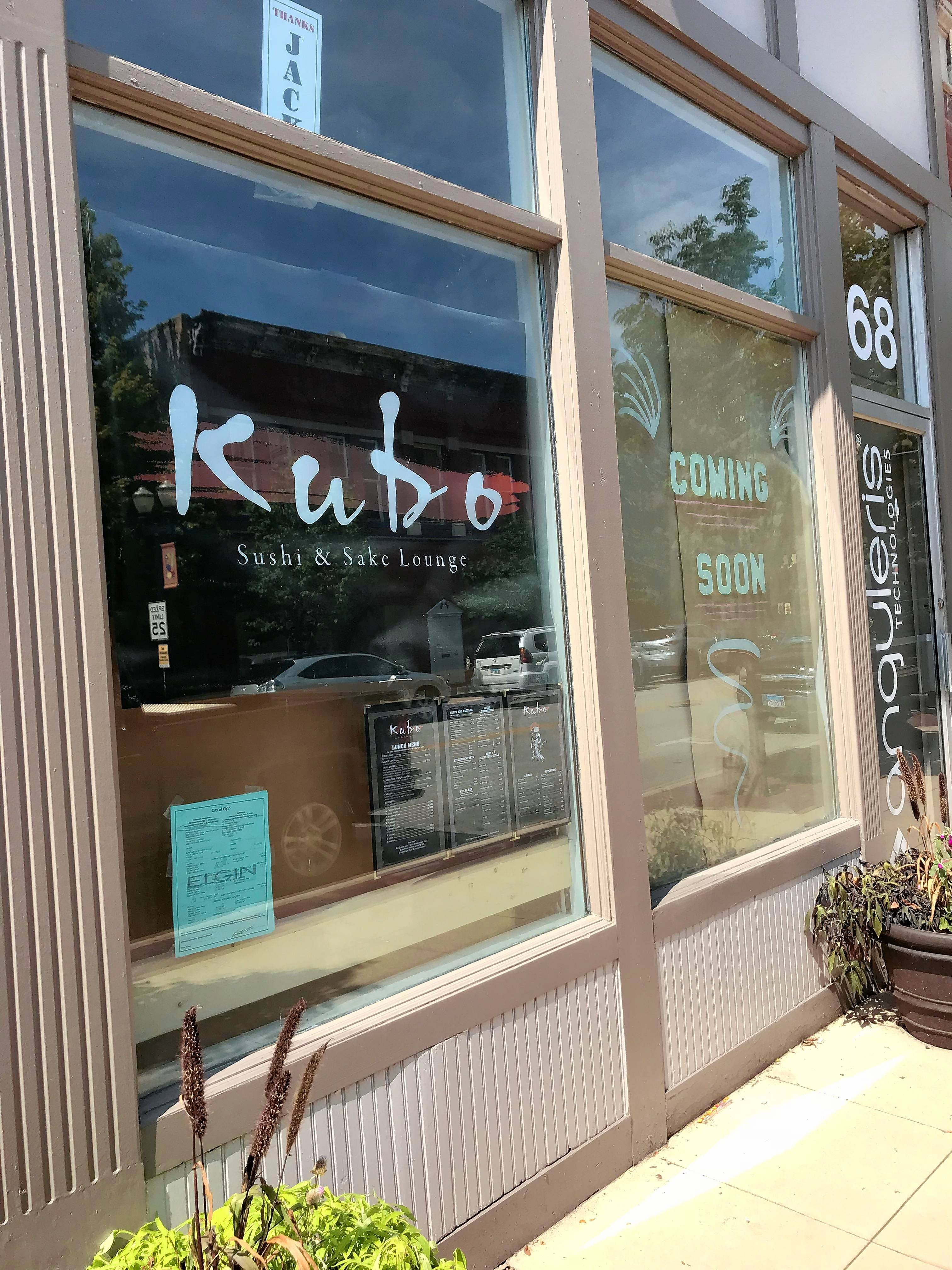 The owners of Kubo Sushi and Sake Lounge at 70 S. Grove Ave., Elgin, said they plan to open shortly after Labor Day.