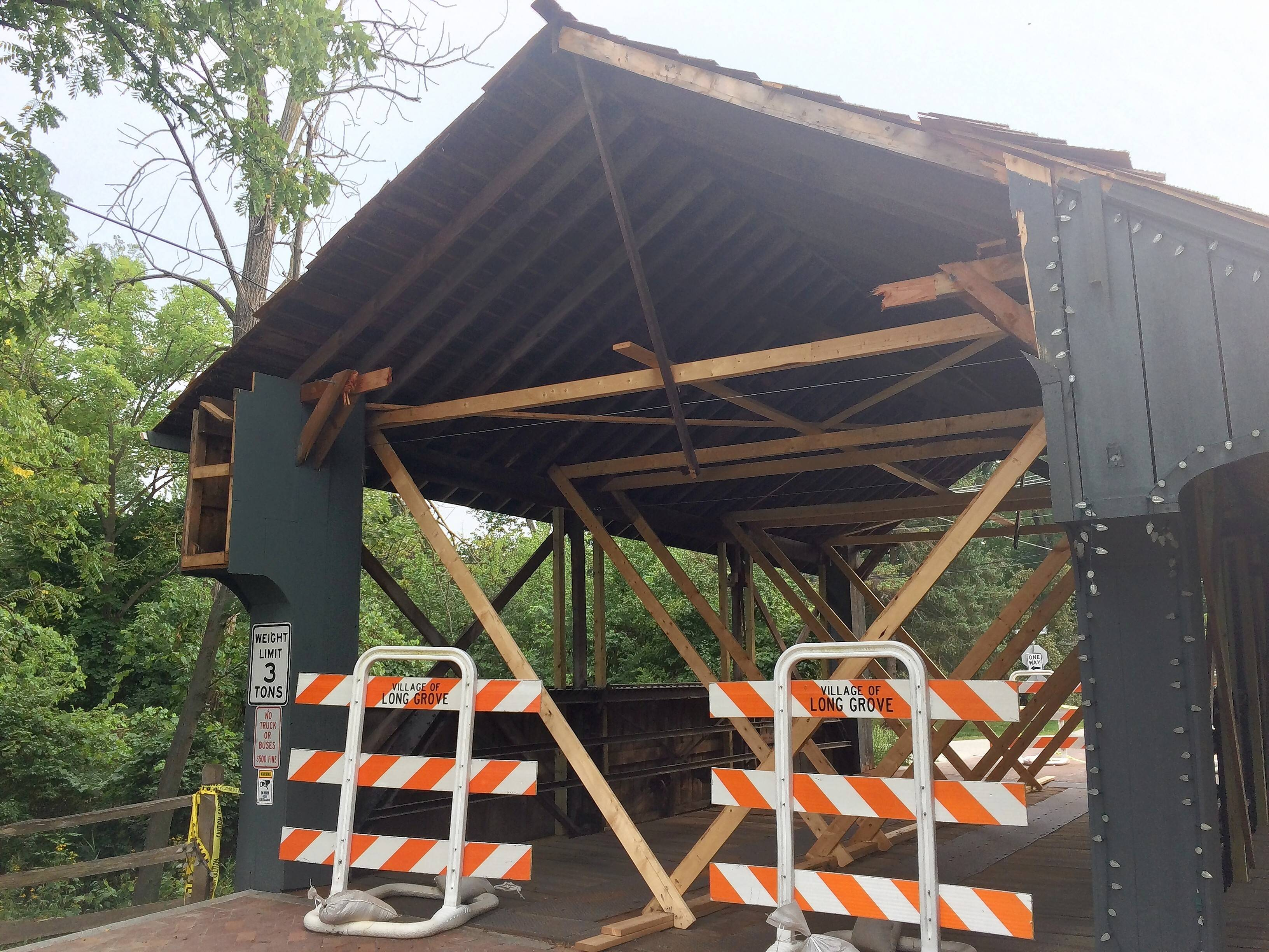Long Grove postpones hiring company to demolish bridge cover