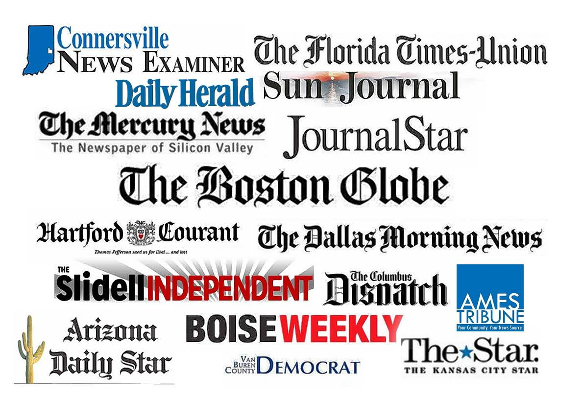 Newspapers across the United States on Thursday published editorials imploring President Trump to cease declaring a free press as the enemy of the people.