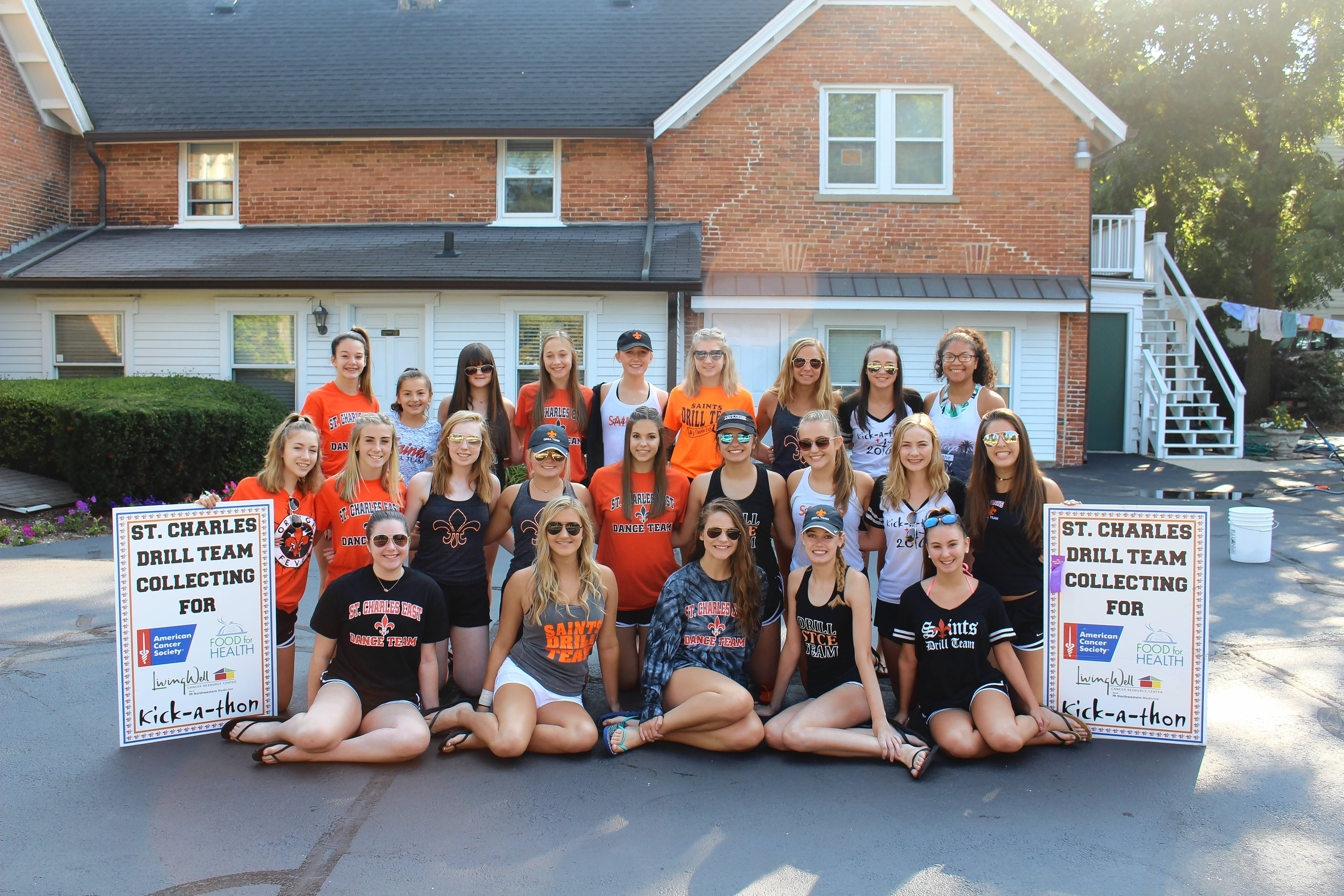 The St. Charles East drill team will be joining with the St. Charles North team in a car wash fundraiser on Saturday and Sunday, Aug. 25-26, as part of the 25th annual Kick-A-Thon to raise money to help fight cancer.