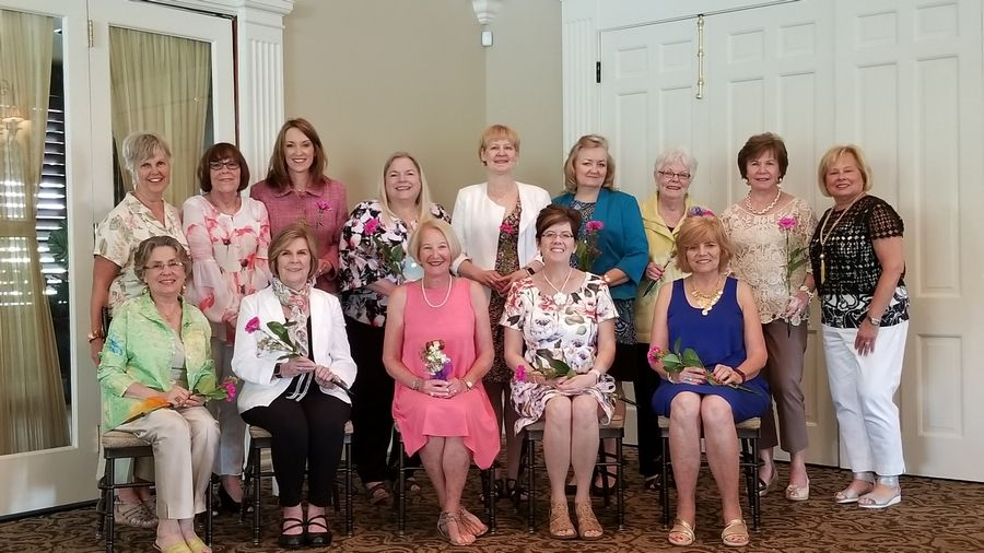 Garden Club of Inverness members include, back row: Mary Kay Bowman, Sally Hard, Holly Bowen, Nancy Kaye, Pam MacGillivray, Janet Sweno, Mary Rubino, Nancy Stacy and Diane Garcea; front row: Shirley Putman, Pam Goodwin, Linda Denison, Susan Erickson and Jeanne Martin