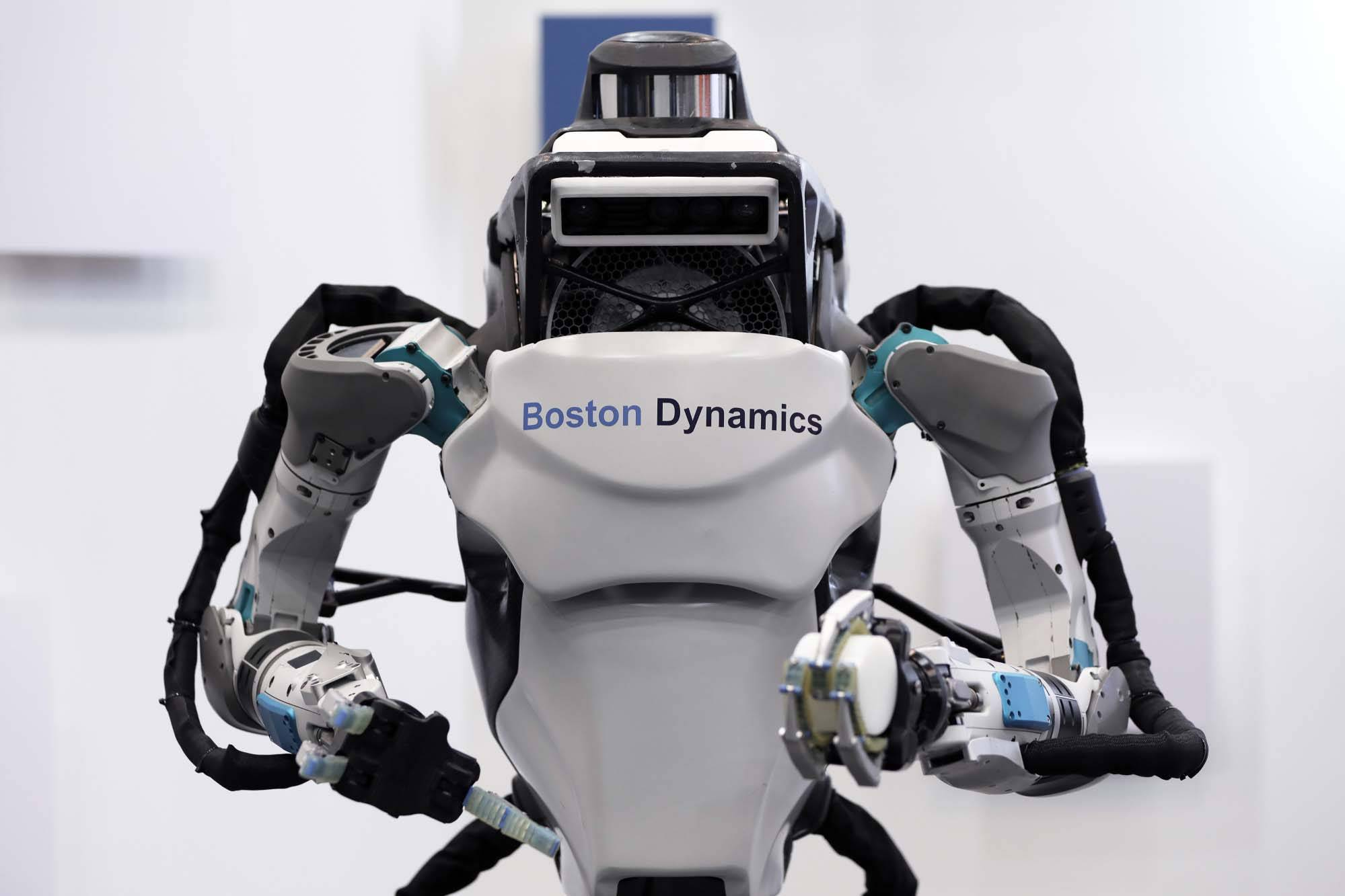 A Boston Dynamics Inc. Atlas humanoid robot.