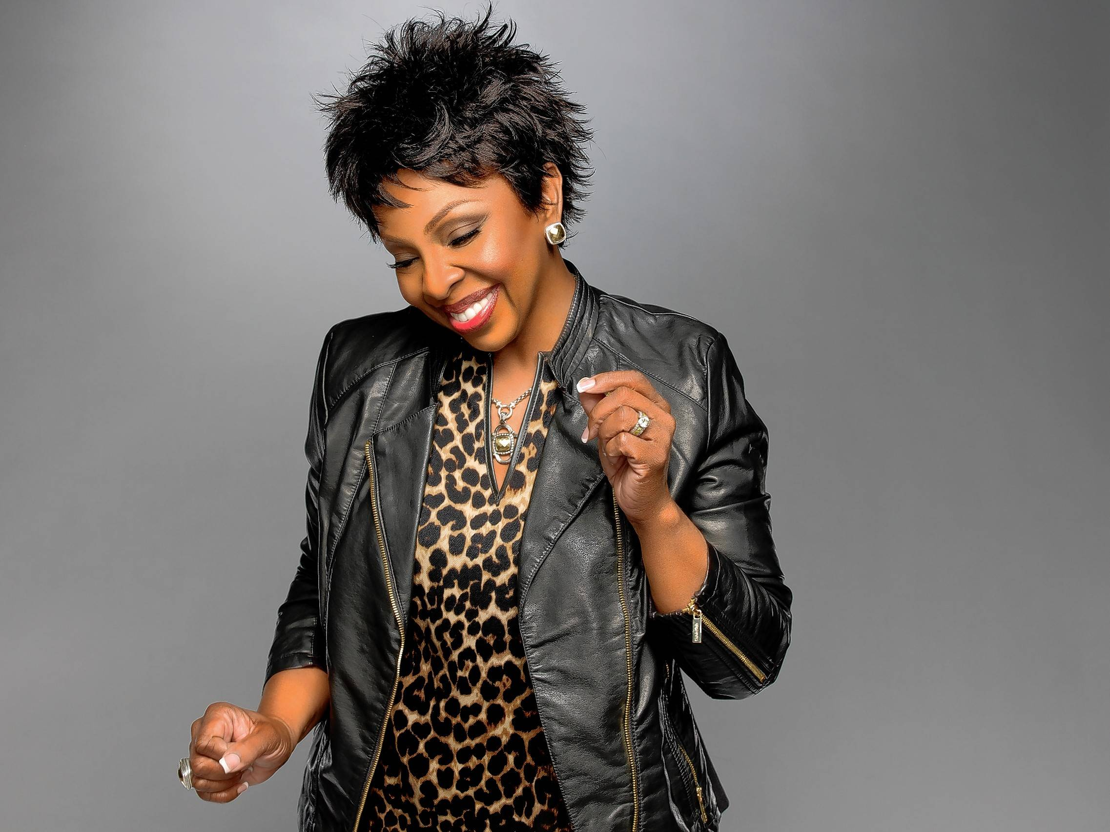 Gladys Knight performs at Aurora's RiverEdge Park on Saturday.