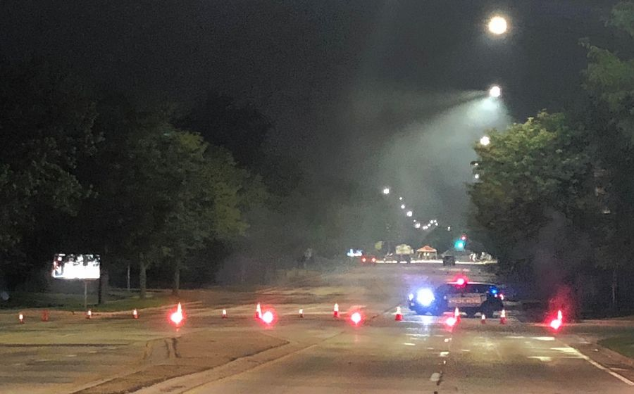 All of Schaumburg Road was closed early Thursday morning just west of Plum Grove Road in Schaumburg up to Summit Drive after a three-vehicle crash Wednesday night.