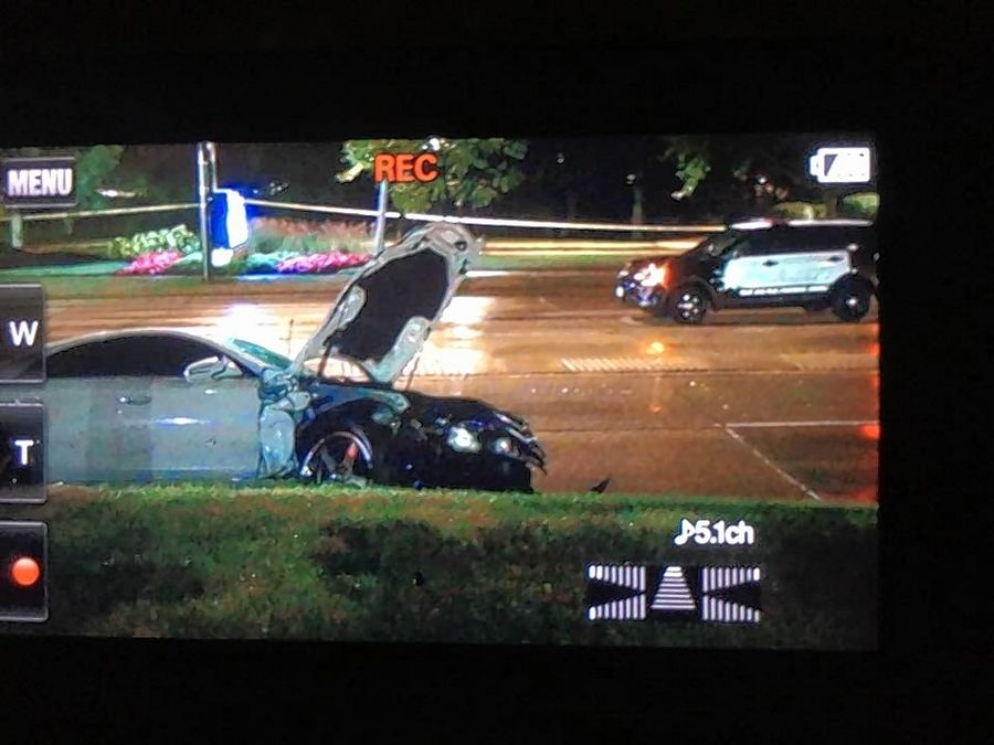 An image off a video recorder shows one of the vehicles involved in a crash on the 500 block of East Schaumburg Schaumburg Road in Schaumburg Wednesday night.
