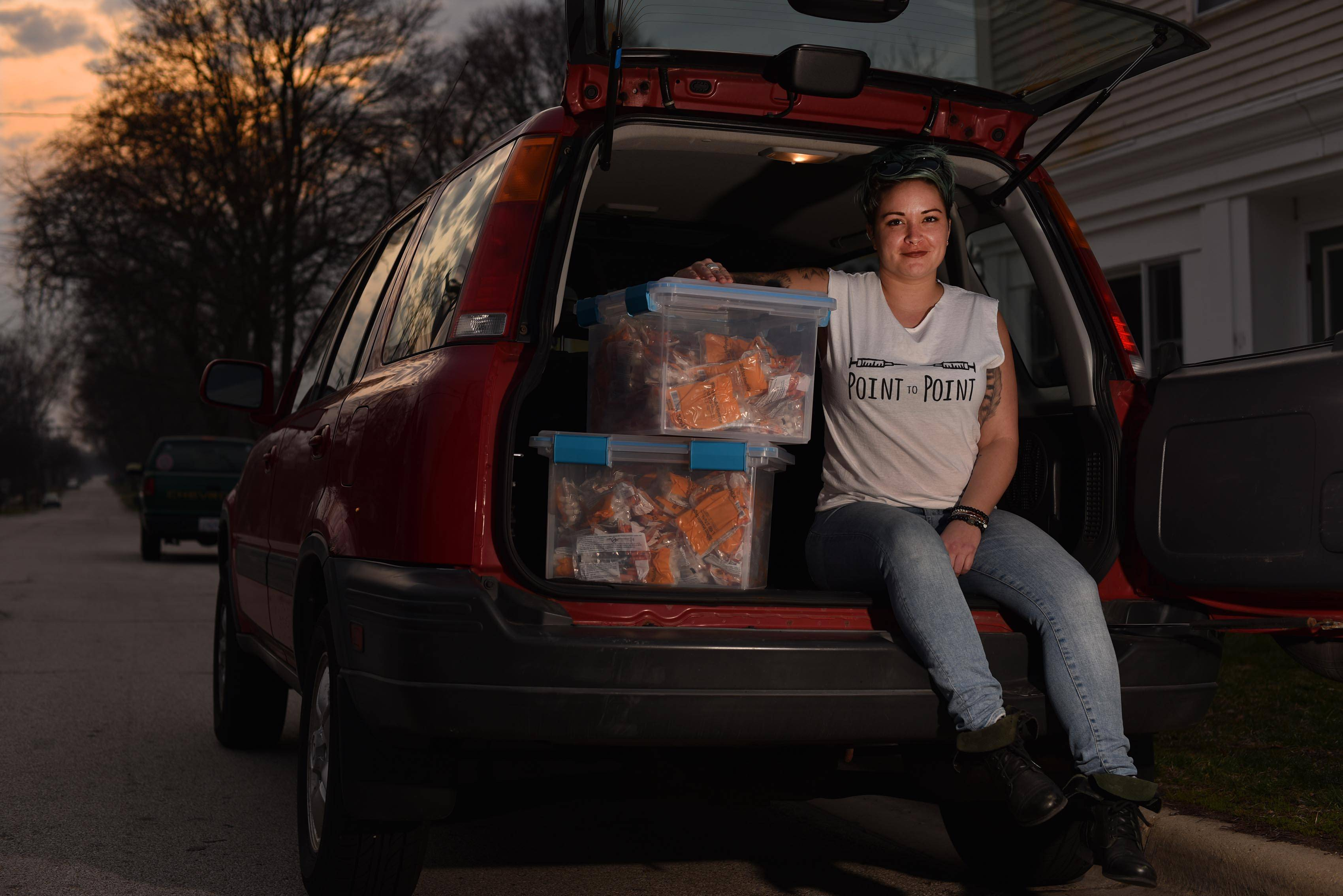 "Lyndsay Hartman started a needle exchange program out of her Batavia apartment and car after losing a friend to drug abuse. She got the idea after taking a social impact entrepreneurship class and participating in North Central College's ""Changemaker Challenge"" last winter."
